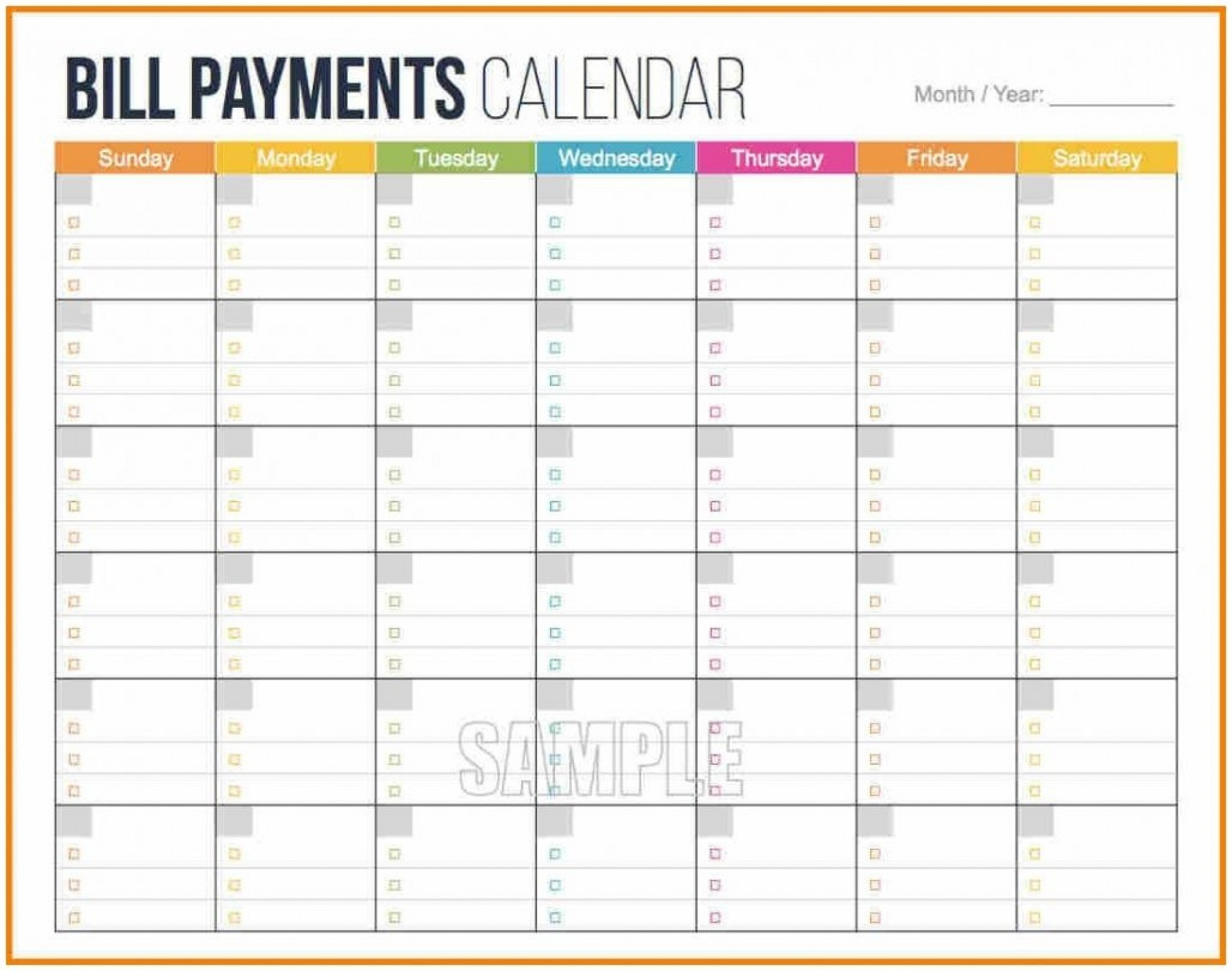 003 Bill Pay Calendar Template Ideas Paying Free Printable intended for Bill Pay Calendar Printable