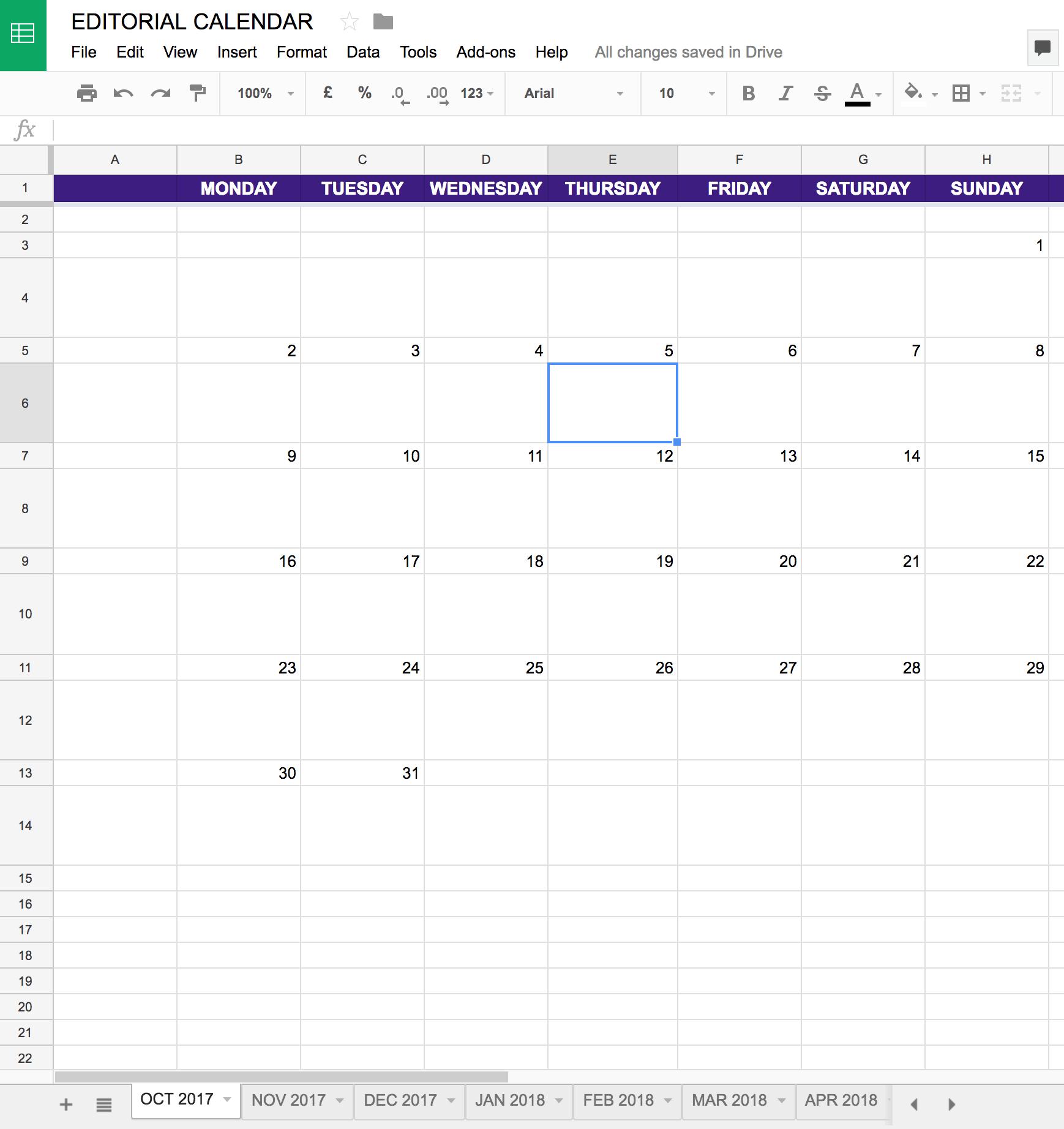 005 Calendar Template Google Docs Spreadsheet Ideas Screen in Calendar Template Google Docs Spreadsheet