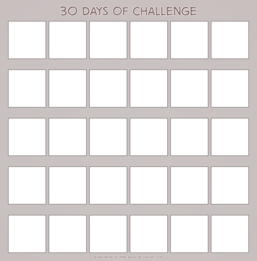 006 Day Calendar Template Business Pertaining To Free for Blank 30 Day Challenge Calendar