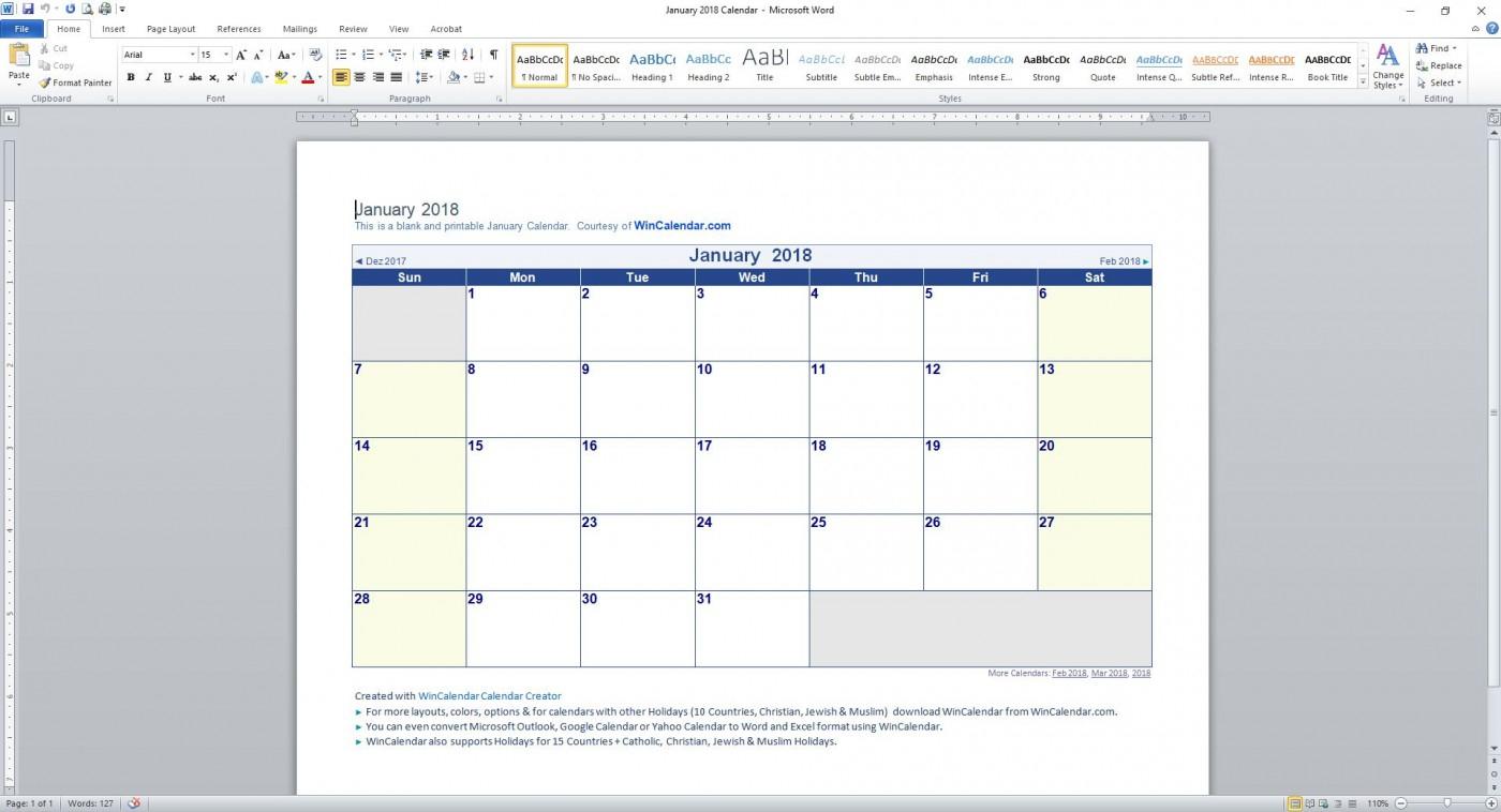 006 Template Ideas Monthly Calendar Word Printable intended for Word Calendar Creator