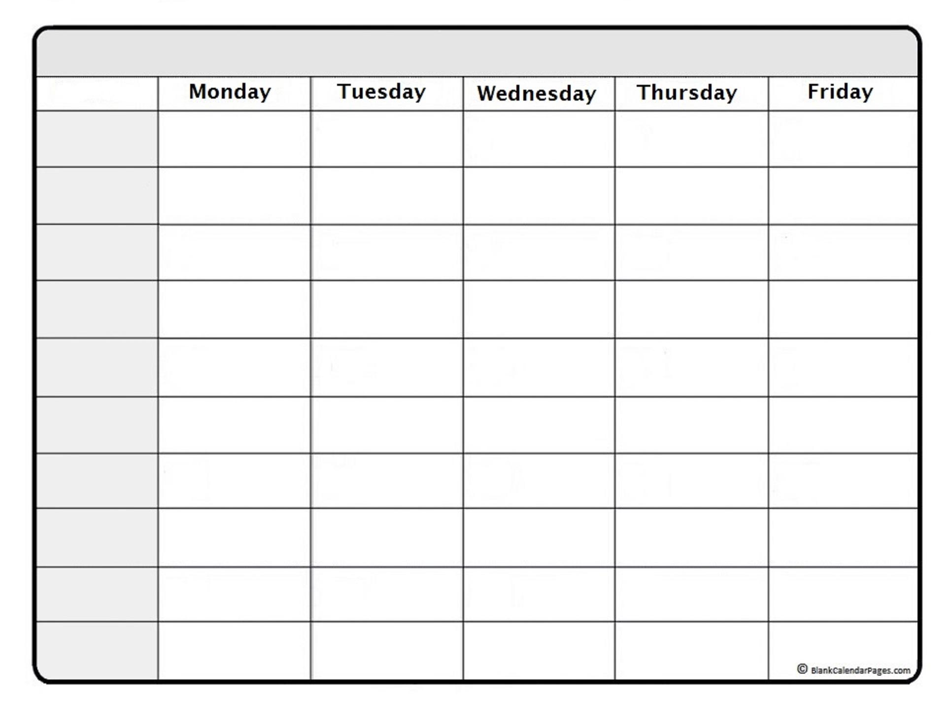 007 Blank Weekly Schedule Template Ideas Stirring Printable in Weekday Calendar Printable