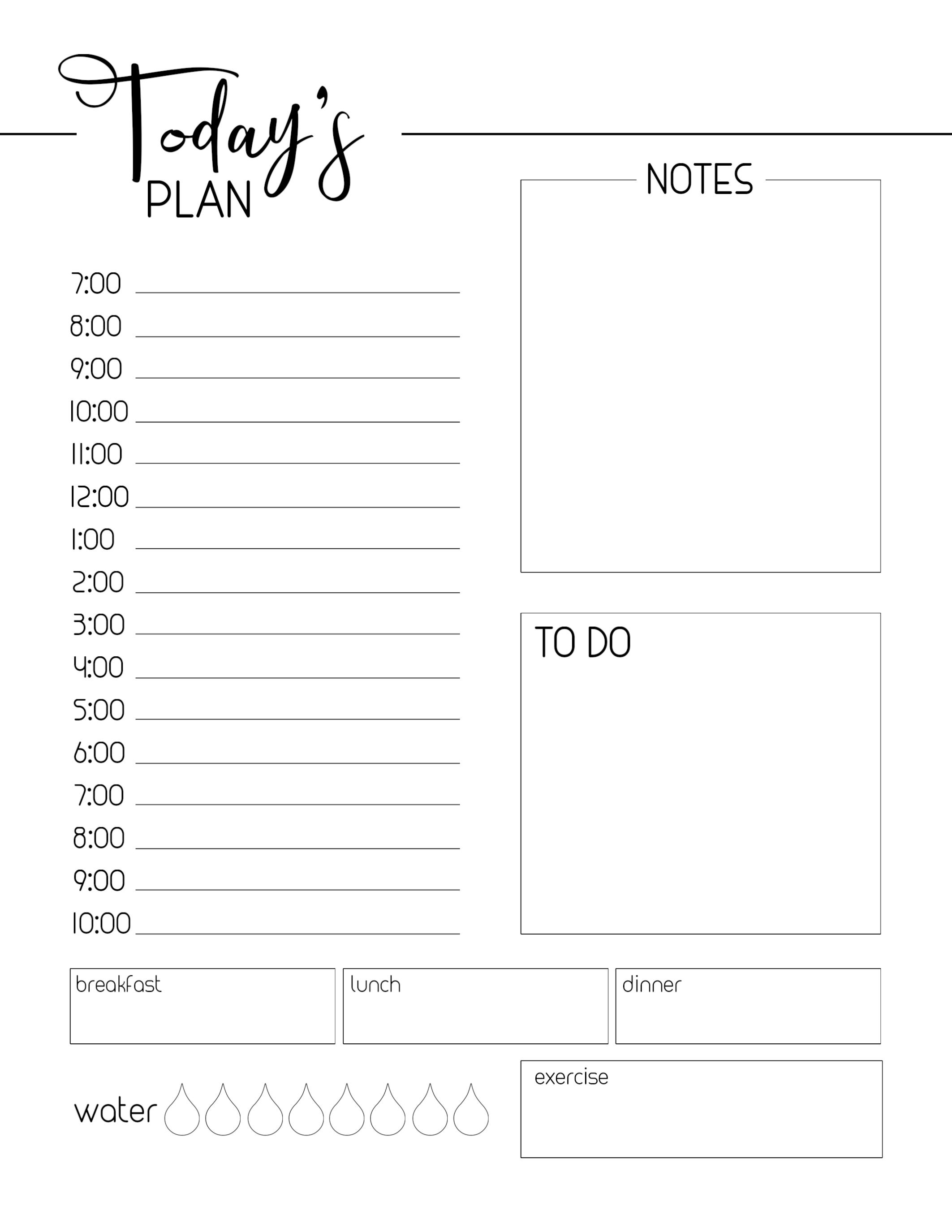 007 Template Ideas Daily Planner Imposing Printable With throughout Free Printable Daily Planner Template