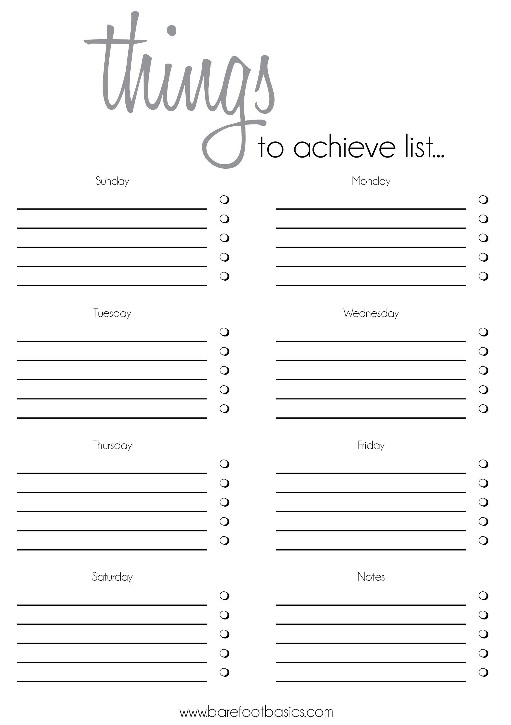 010 Printable To Do List Template Ideas Free Blank Checklist throughout Printable Blank Checklist
