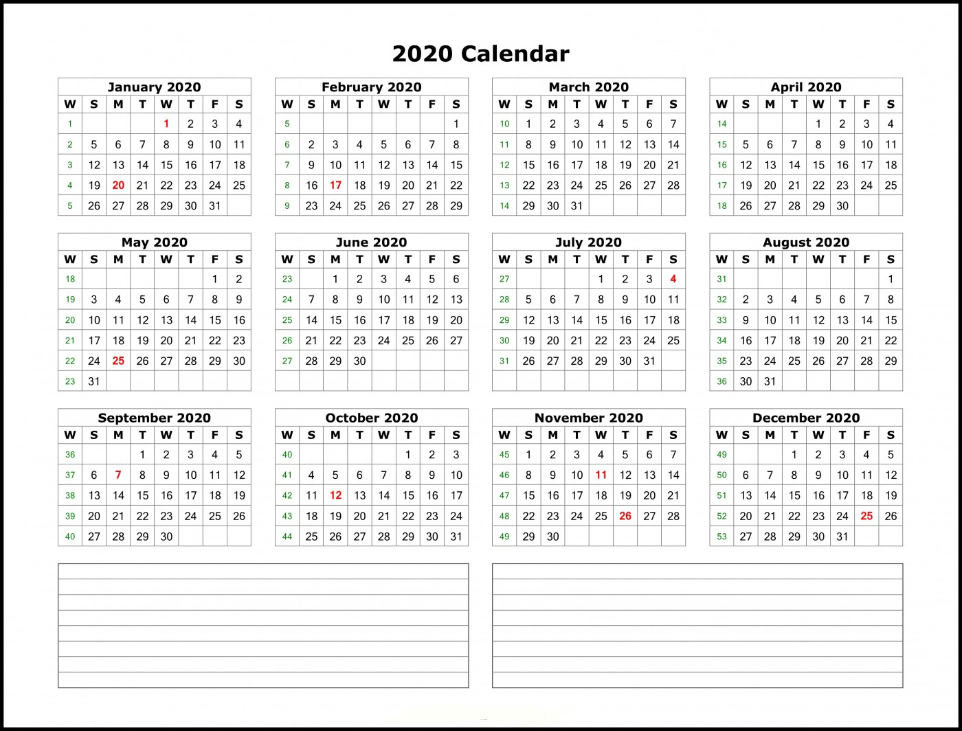 011 Free Excel Yearly Calendar Template Ideas Img pertaining to Kalendar Excel 2020