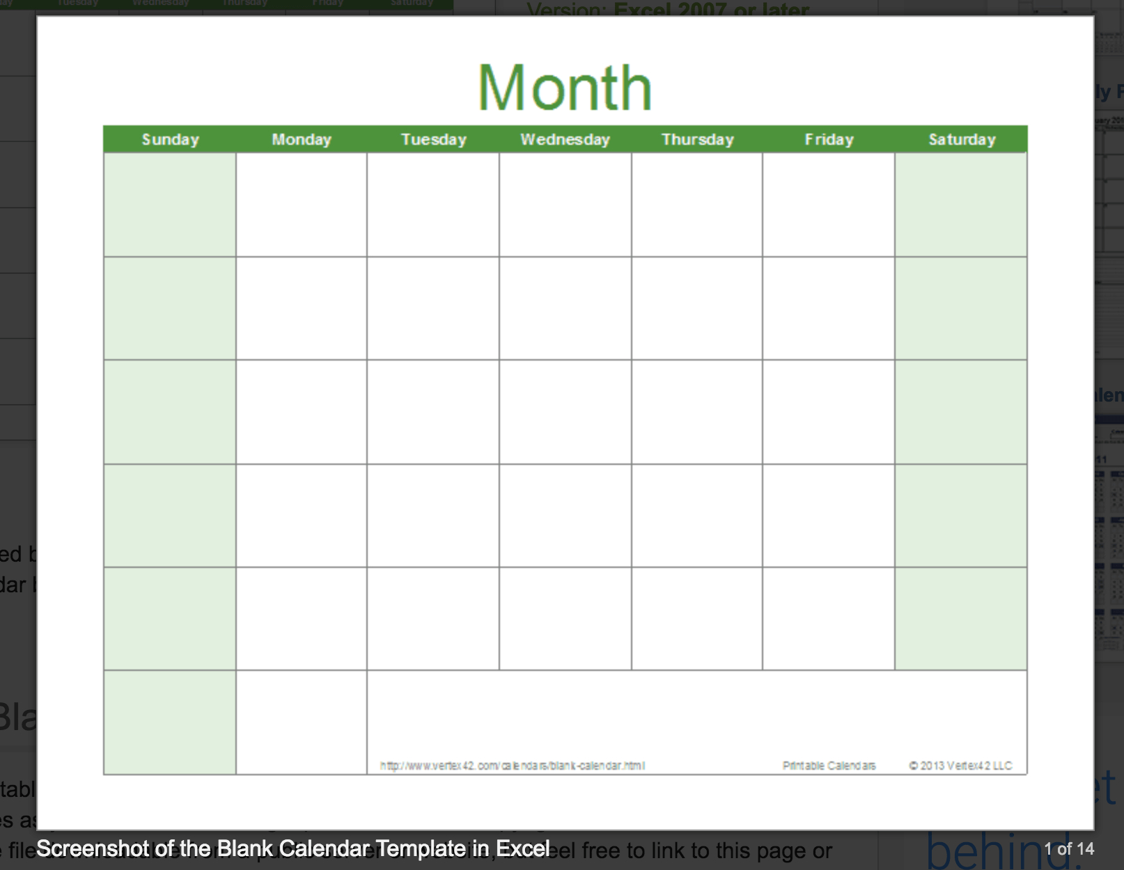 013 Free Excel Calendar Template Vertex42 Blank Unbelievable in Vertex Calendar 2020