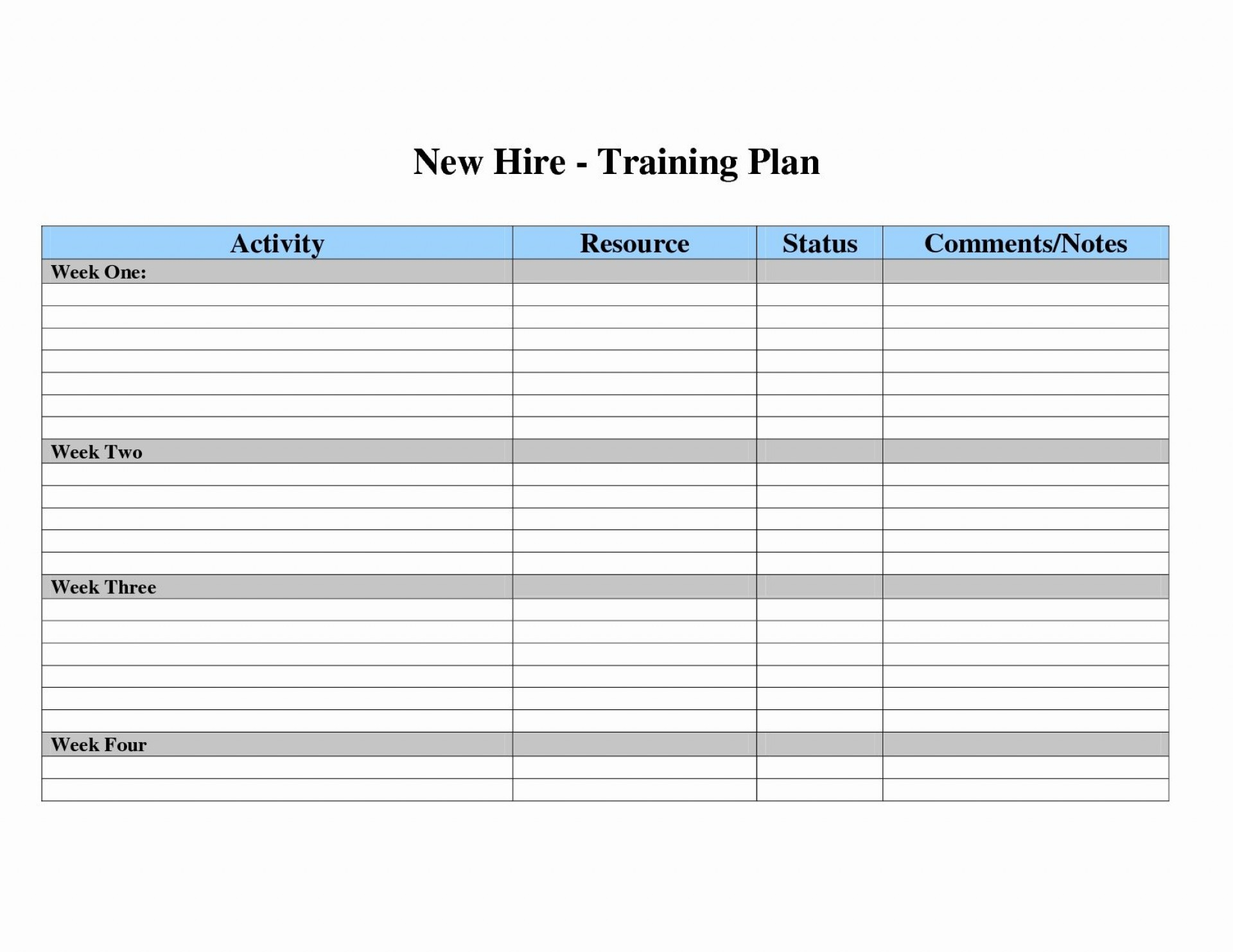 016 Annual Training Plan Template Excel Lgxmrt Ideas inside Blank Training Plan Template
