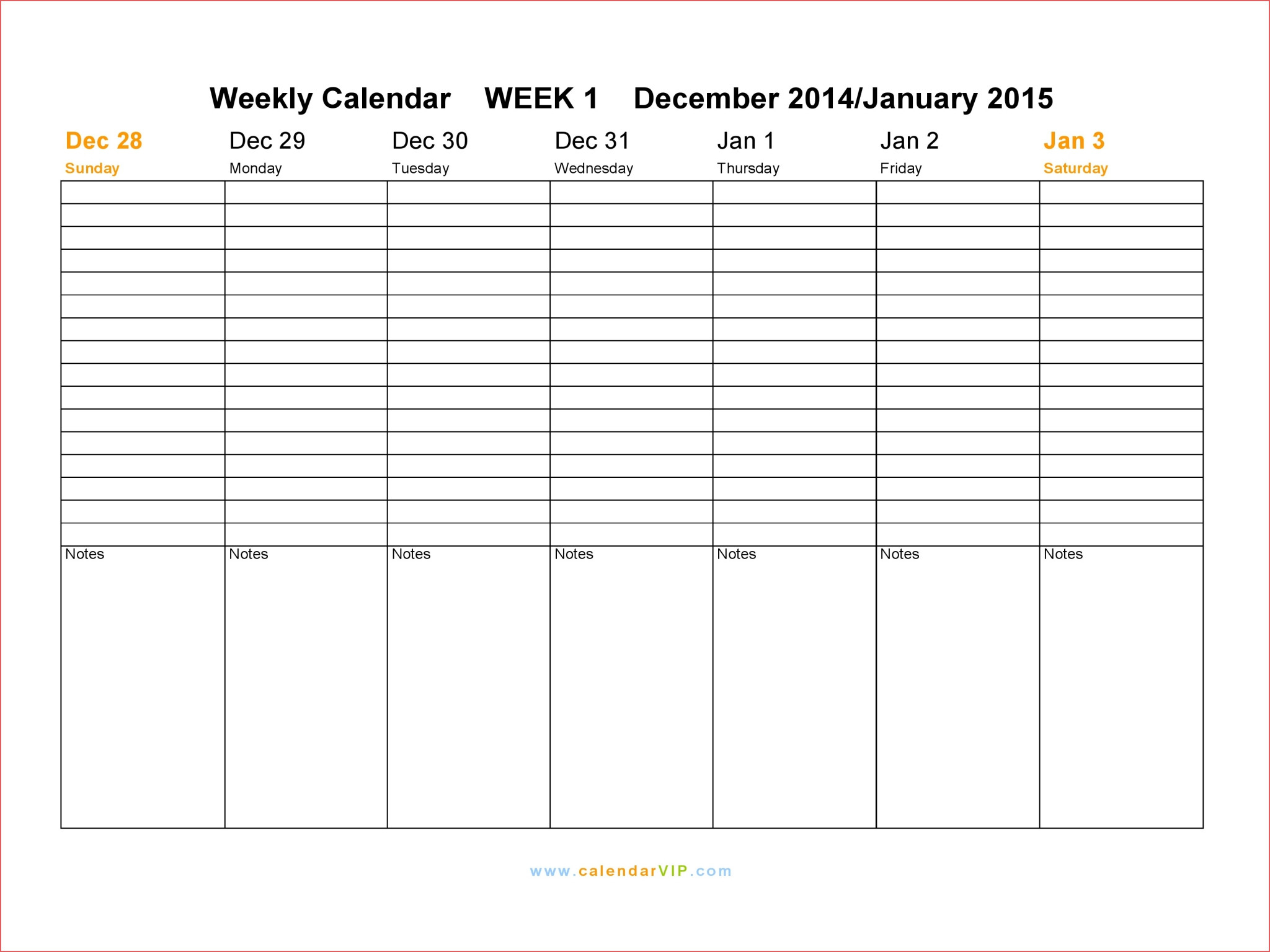 016 Weekly Calendar Template Madinbelgrade Free Printable with Printable Week Calendar