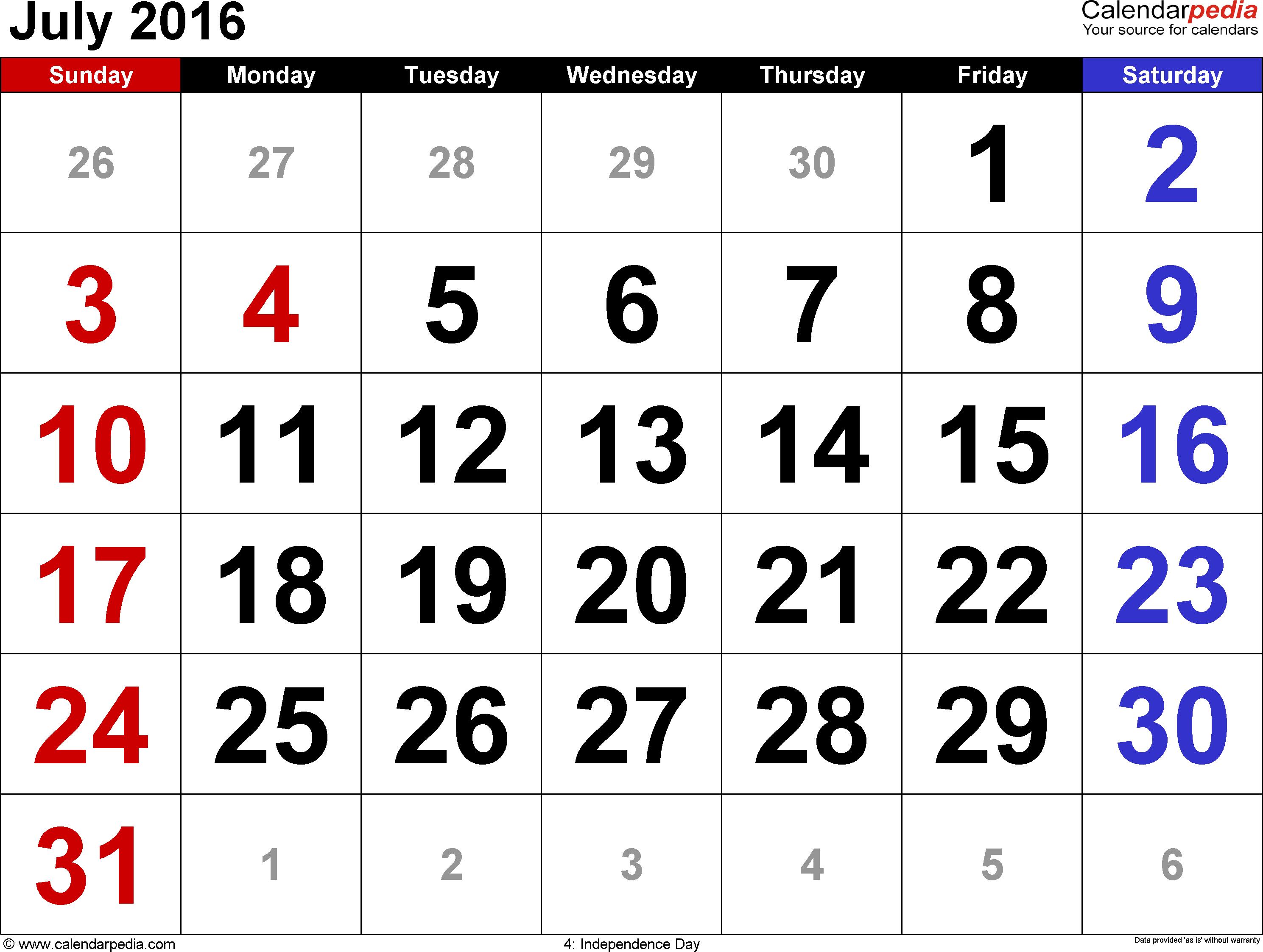 017 Blank Calendar Template July Ideas Wonderful 2016 inside July 2016 Calendar With Holidays