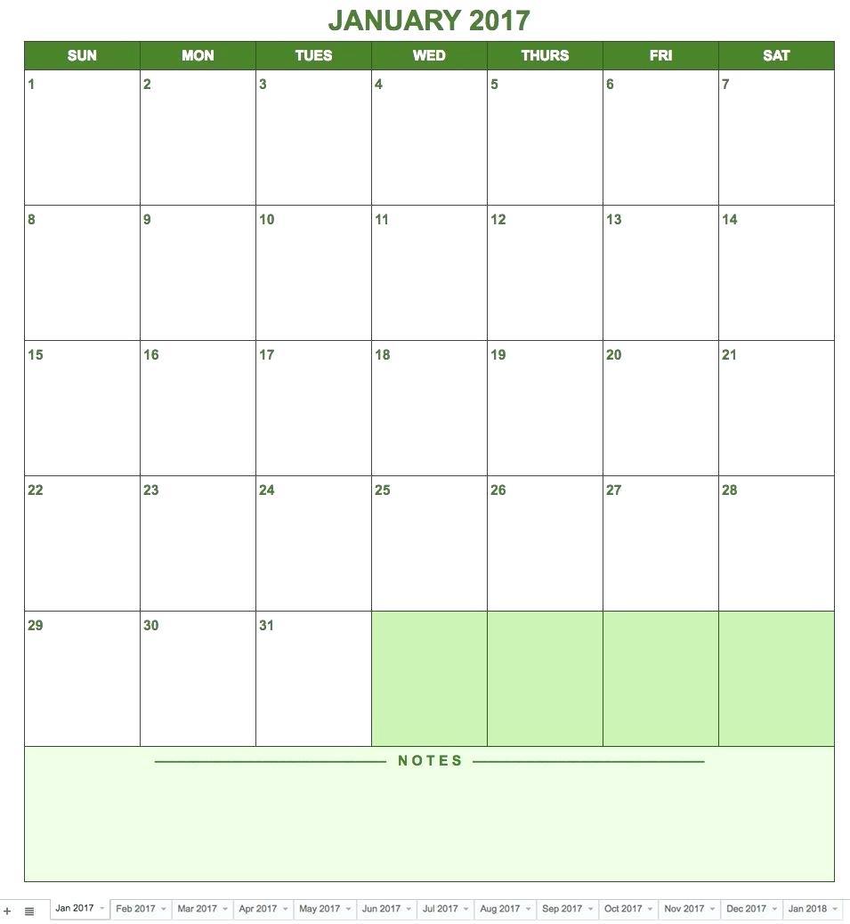 020 Calendar Template Google Docs Spreadsheet Sheets Monthly regarding Calendar Template Google Docs Spreadsheet