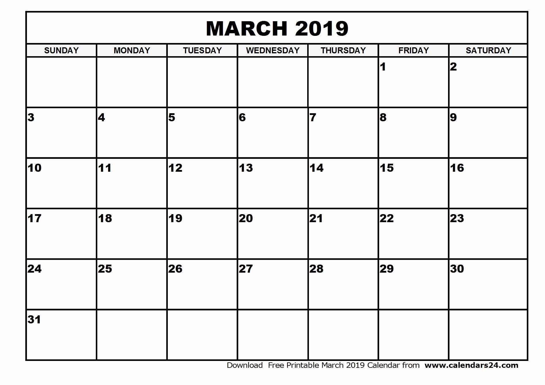 020 Free Printable Blank Calendar Template Monthly Templates inside Blank Monthly Calender