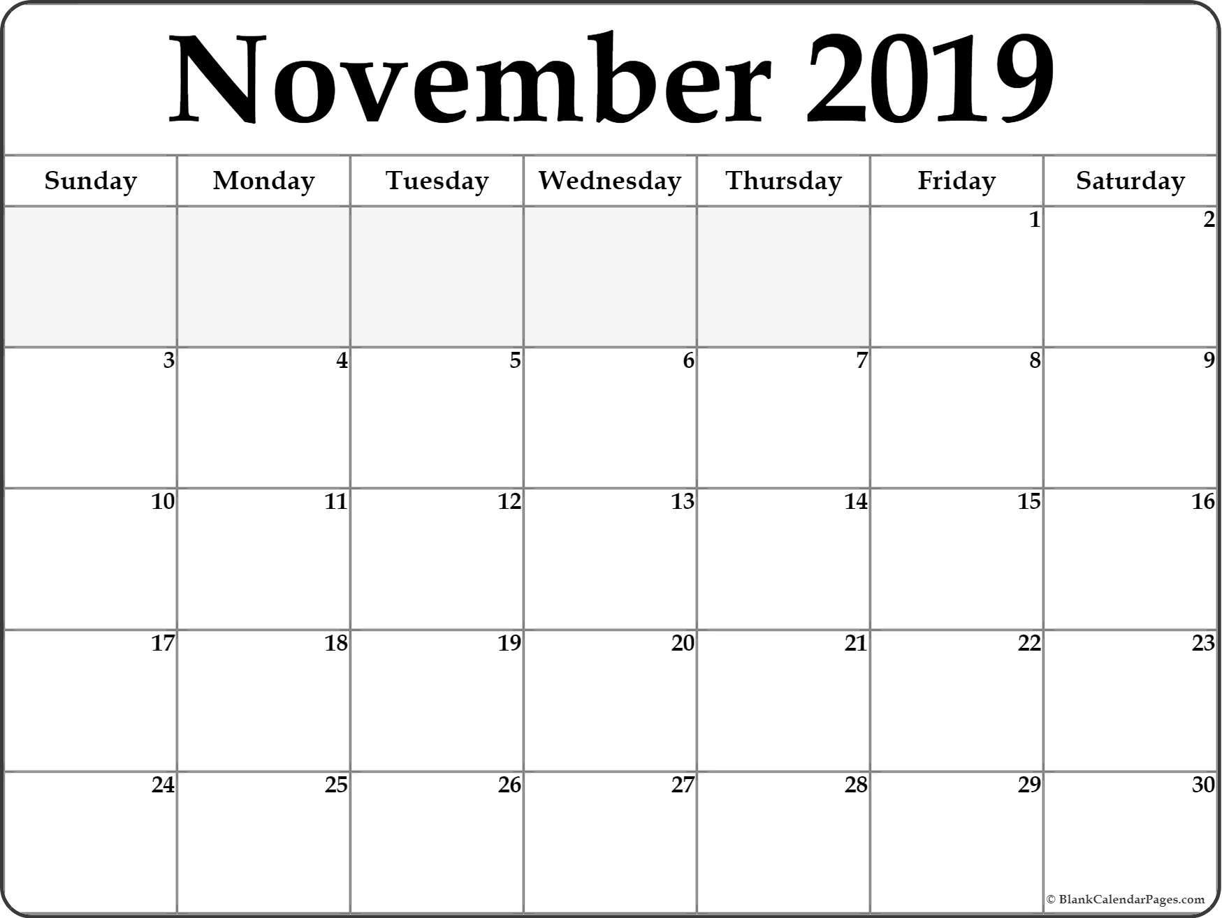 021 November Calendar Sample Template Ideas Free Singular regarding Empty Printable Calendar