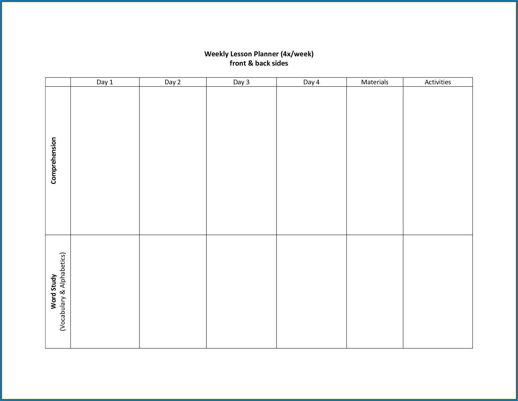 021 Two Week Calendar Template Monday To Friday Calendars with 2 Week Blank Calendar Printable