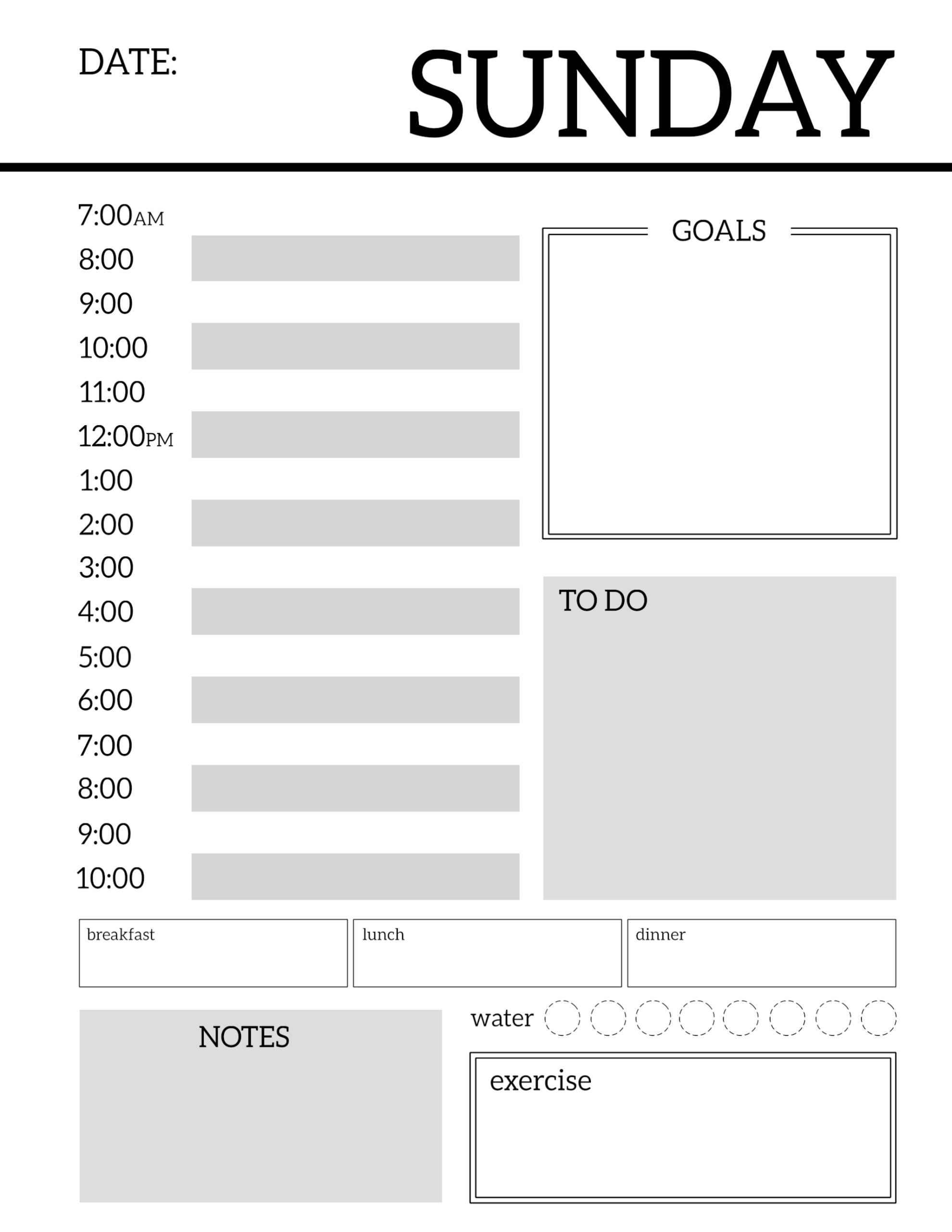 025 Template Ideas Daily Planner Pinterest1 Imposing intended for Free Printable Daily Planner Template