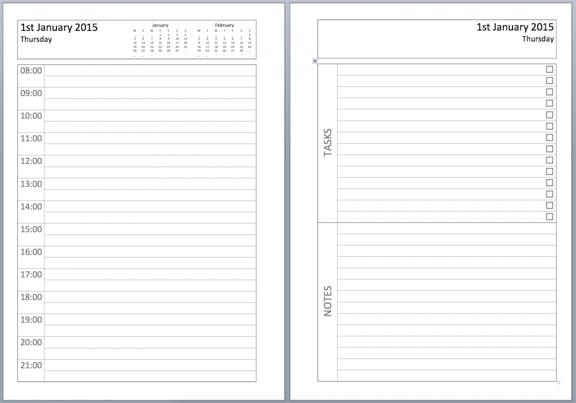 025 Template Ideas Daily Planner Pinterest1 Imposing pertaining to Daily Planner With Time Slots