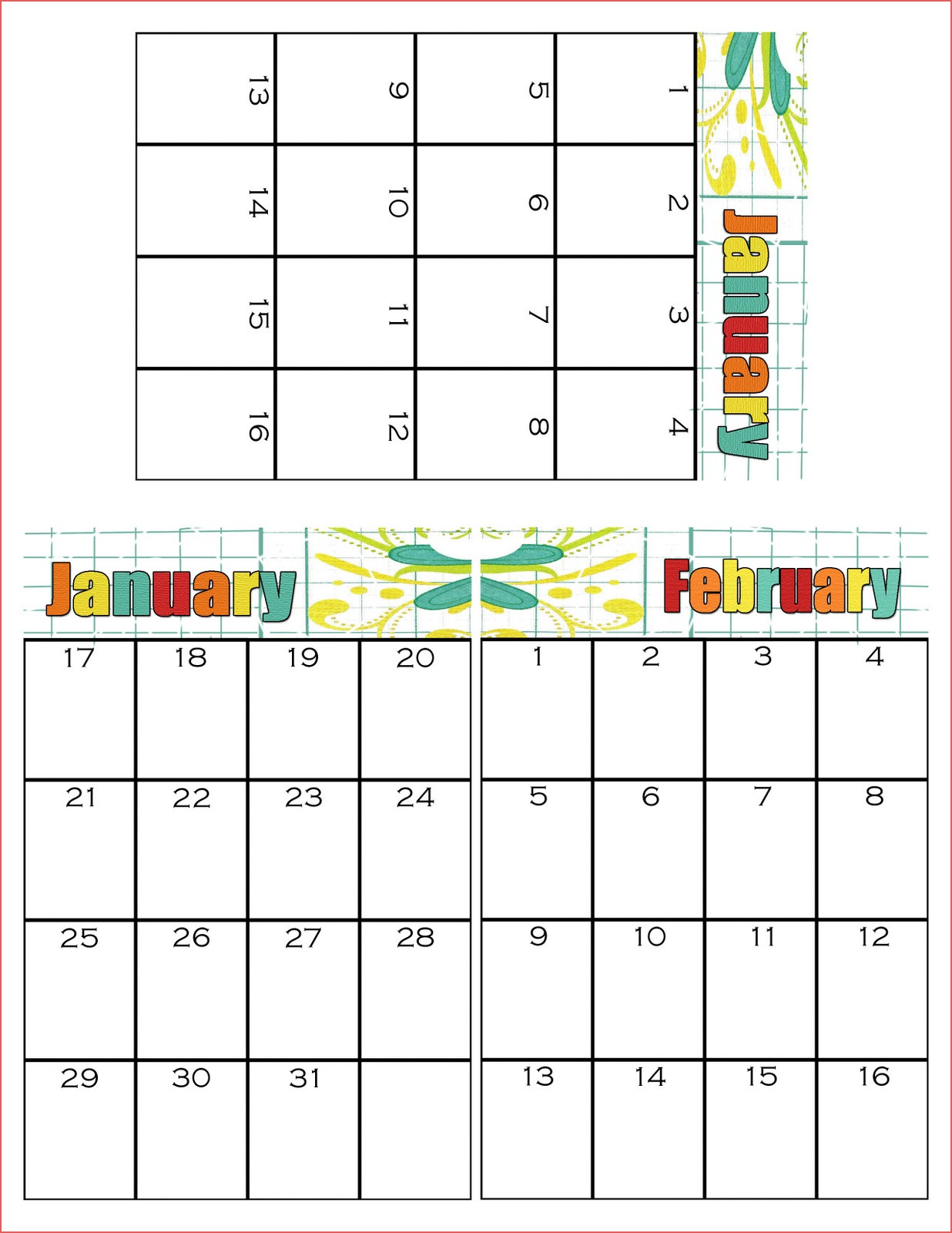 029 Simpsonized Crafts Free Printable Birthday Calendar within Monthly Birthday Calendar Template