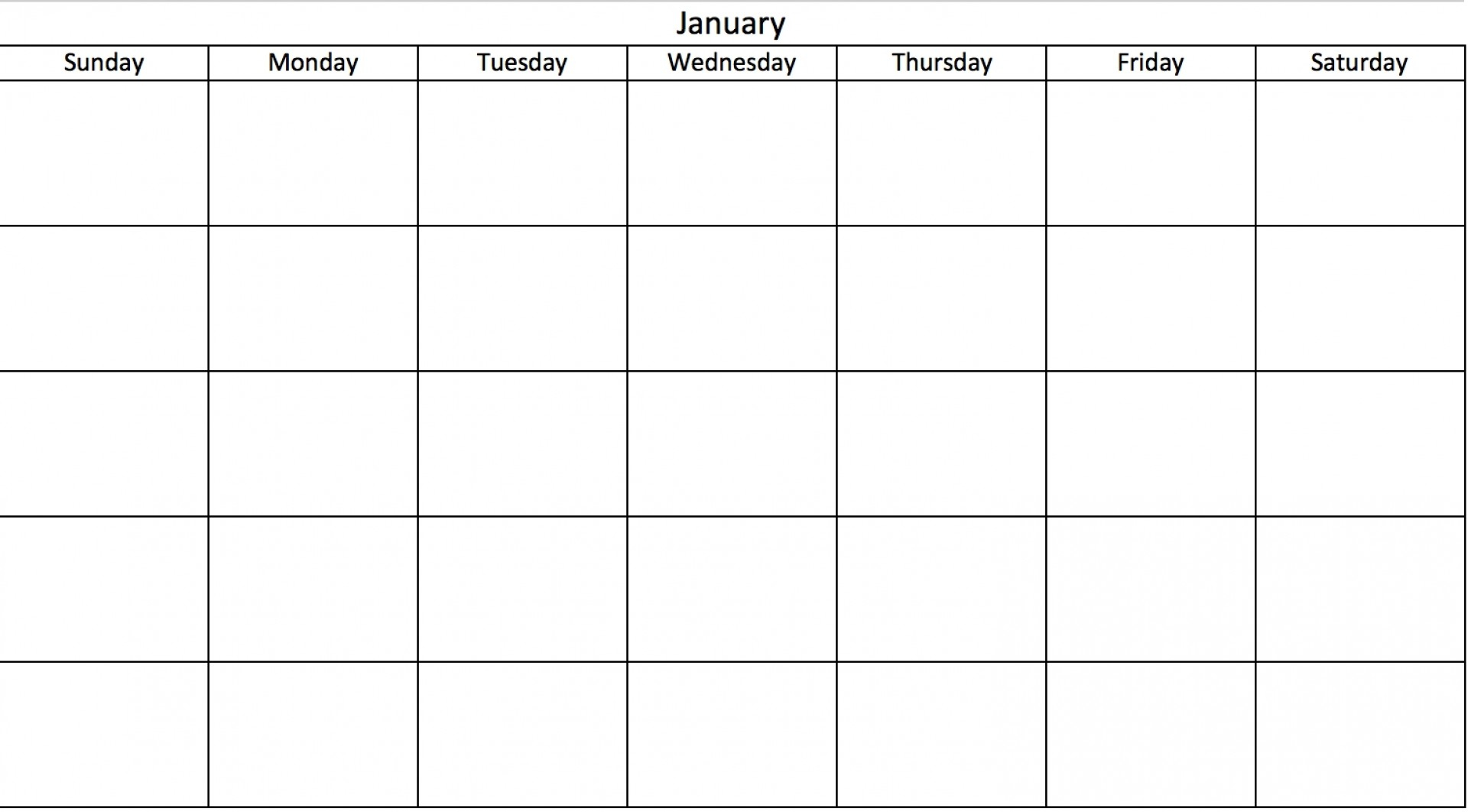 032 Day Calendar Template January Blank Full Weekday Dreaded with regard to Free Printable 30 Day Calendar