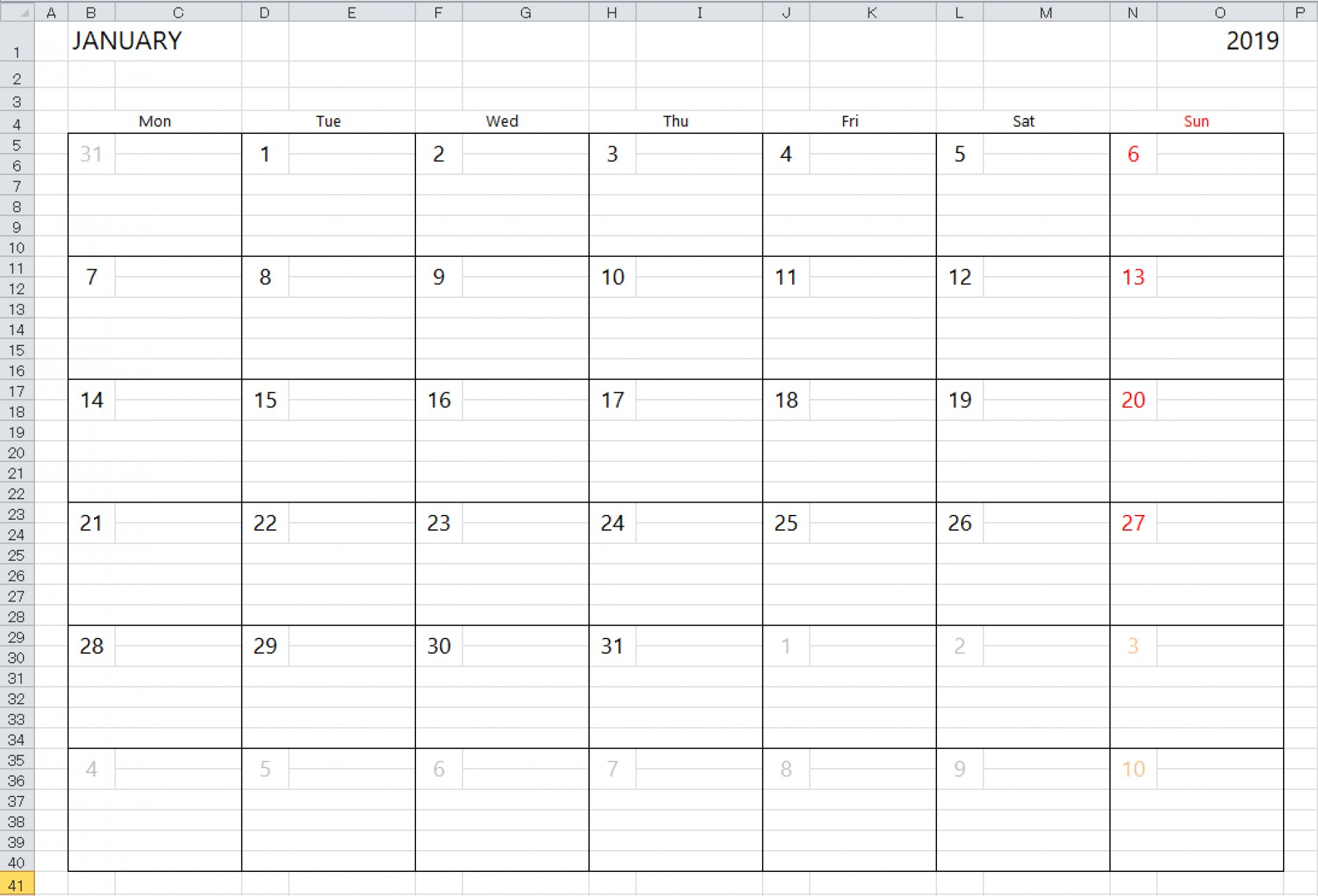 033 Img Excelcalendar 03 En Excel Weekly Calendar Template in Monthly Calendar With Time Slots 2020