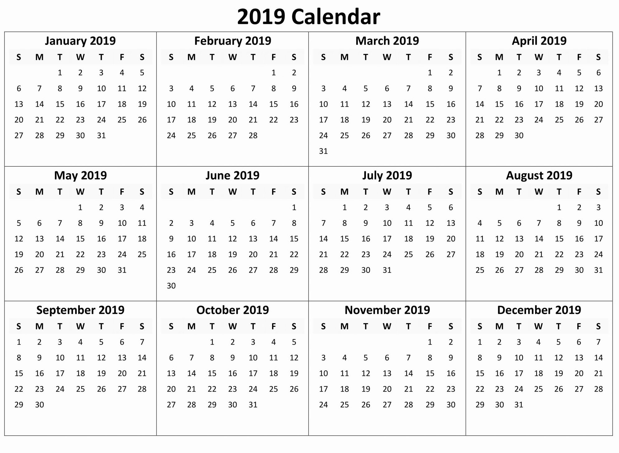 044 Yearly Calendar Free Download Month Template Marvelous pertaining to Printable 12 Month Calendar On One Page
