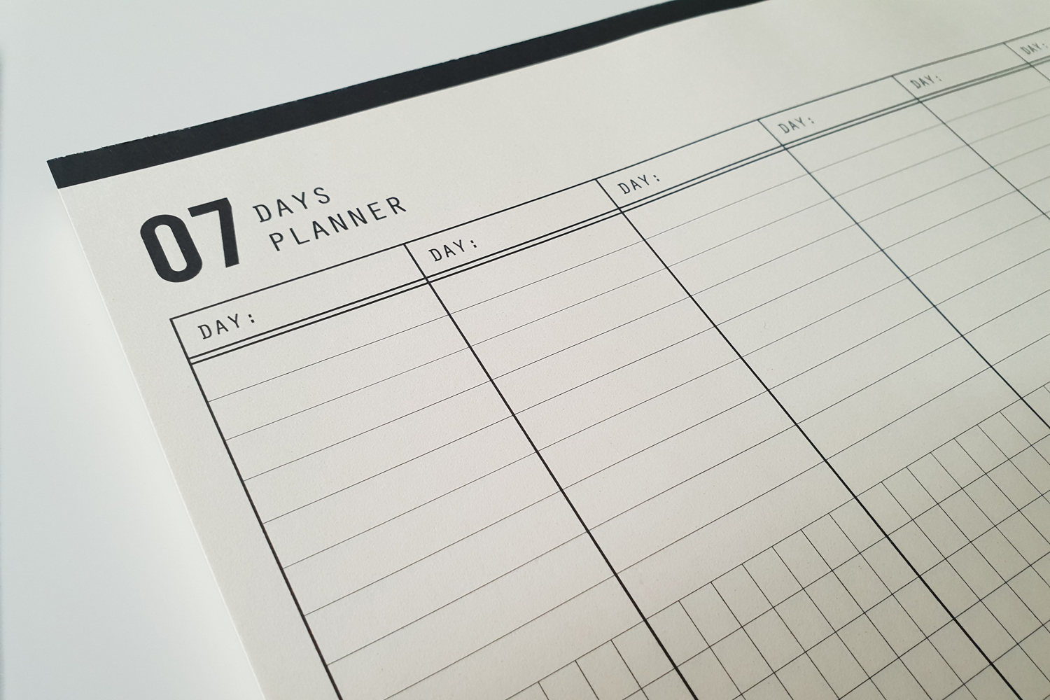 07 Days Planner Allows You To Organize Your Week In Any Way You Like pertaining to 7 Days A Week Planner