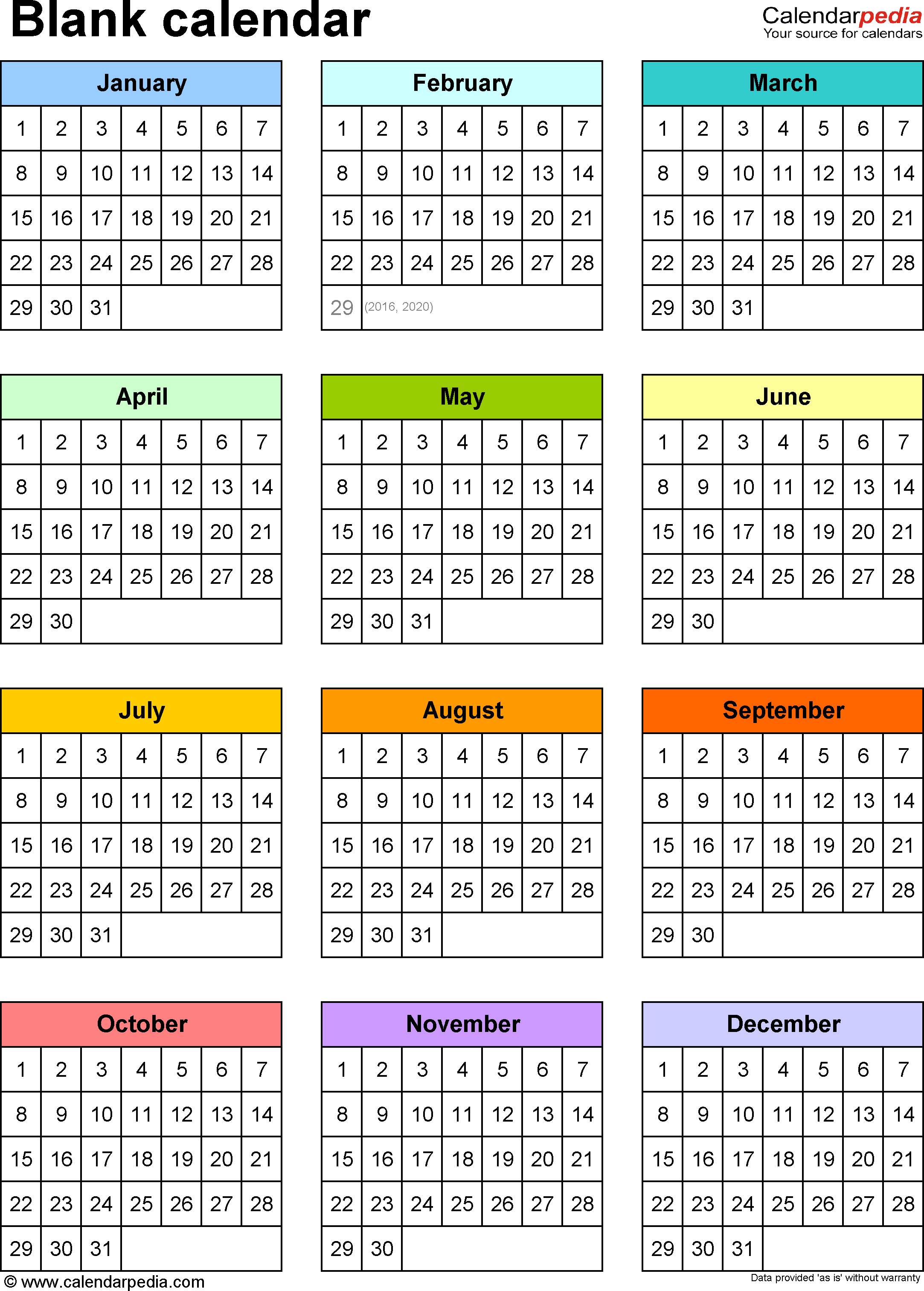 1 Year Calendar  Yatay.horizonconsulting.co for Year At A Glance Calendar Printable
