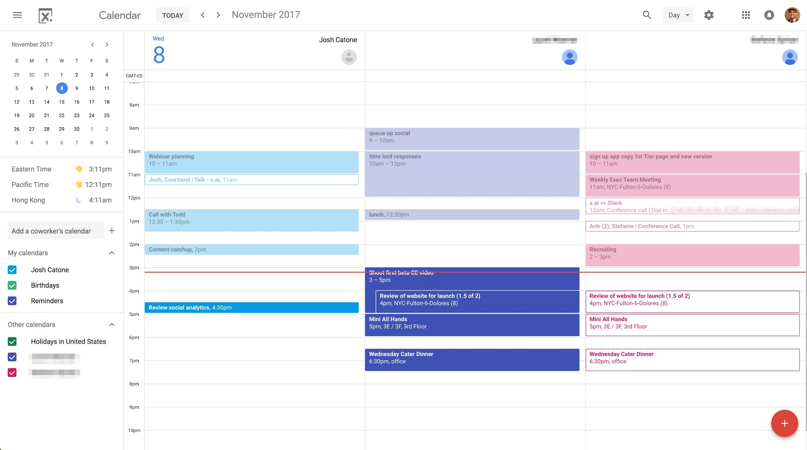 10 Ways To Rock Your Google Calendar – X.ai throughout Google Calendar Hide Non Working Hours