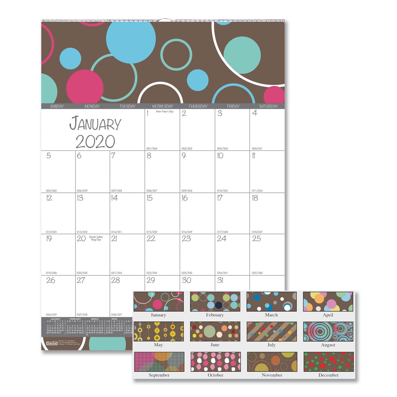 100% Recycled Bubbleluxe Wall Calendar, 12 X 12, 2020 for 12X12 Calendar Holder