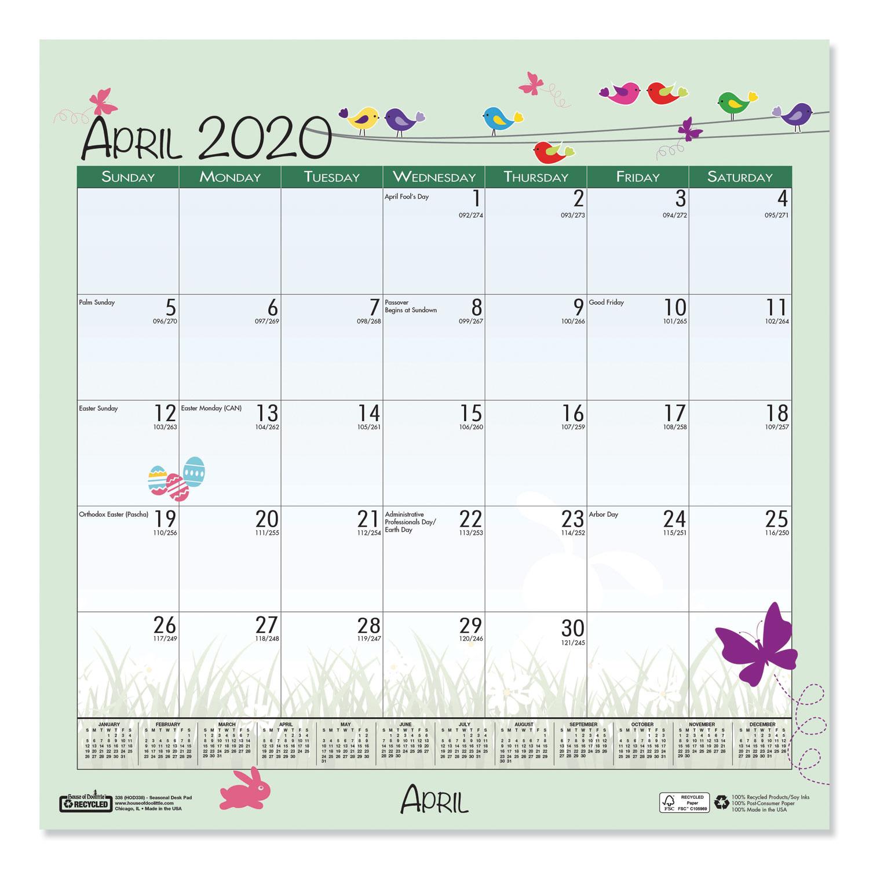 100% Recycled Seasonal Wall Calendar, 12 X 12, 2020  Mason intended for 12X12 Calendar Holder