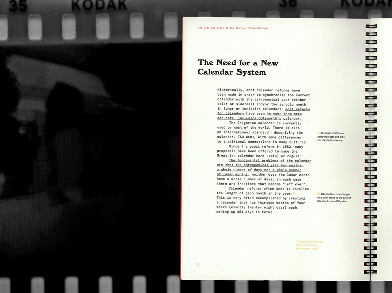 13 Month Calendar Typography + Book Design + Editorial throughout Kodak Calendar Maker
