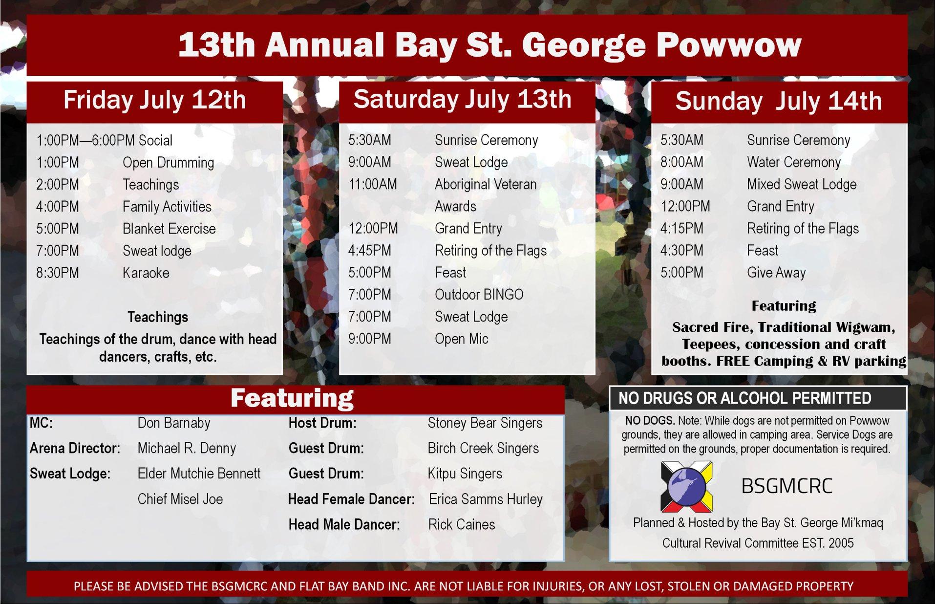 13Th Annual Bay St. George Powwow – Qalipu with St George Economic Calendar