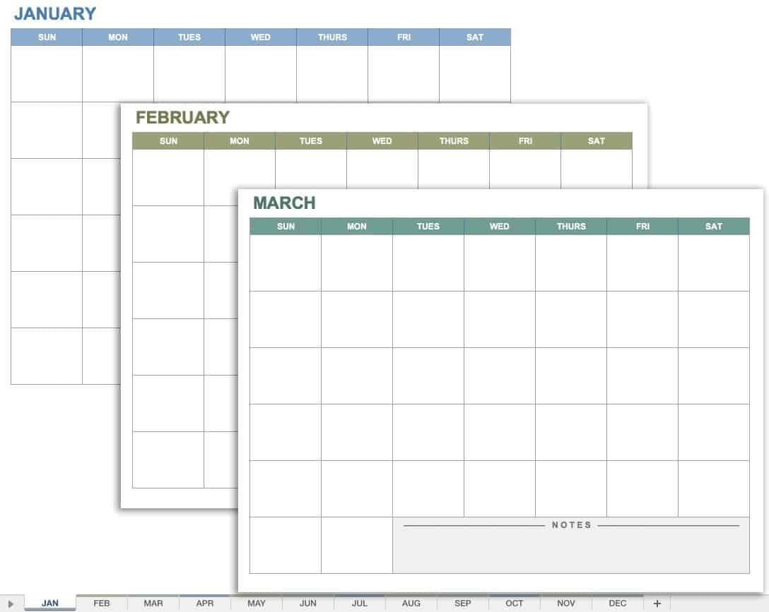 15 Free Monthly Calendar Templates   Smartsheet regarding Smartsheet 2020 Calendar