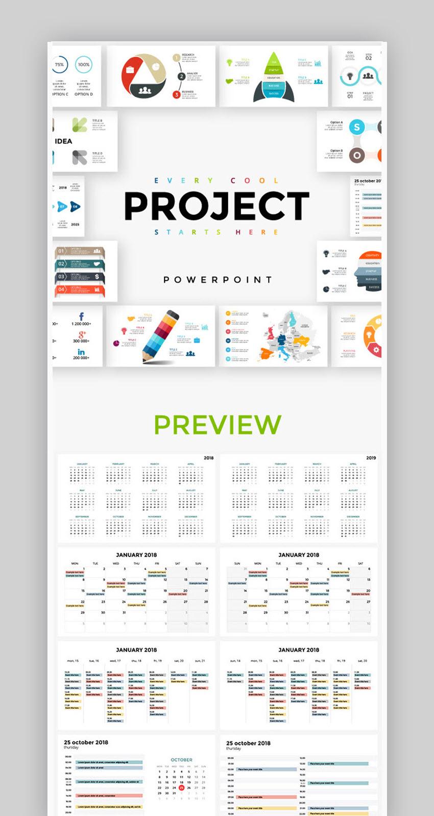 18 Лучших Шаблонов Календарей Ppt Дизайнов В Powerpoint На 2018 inside Calendar Icon Powerpoint