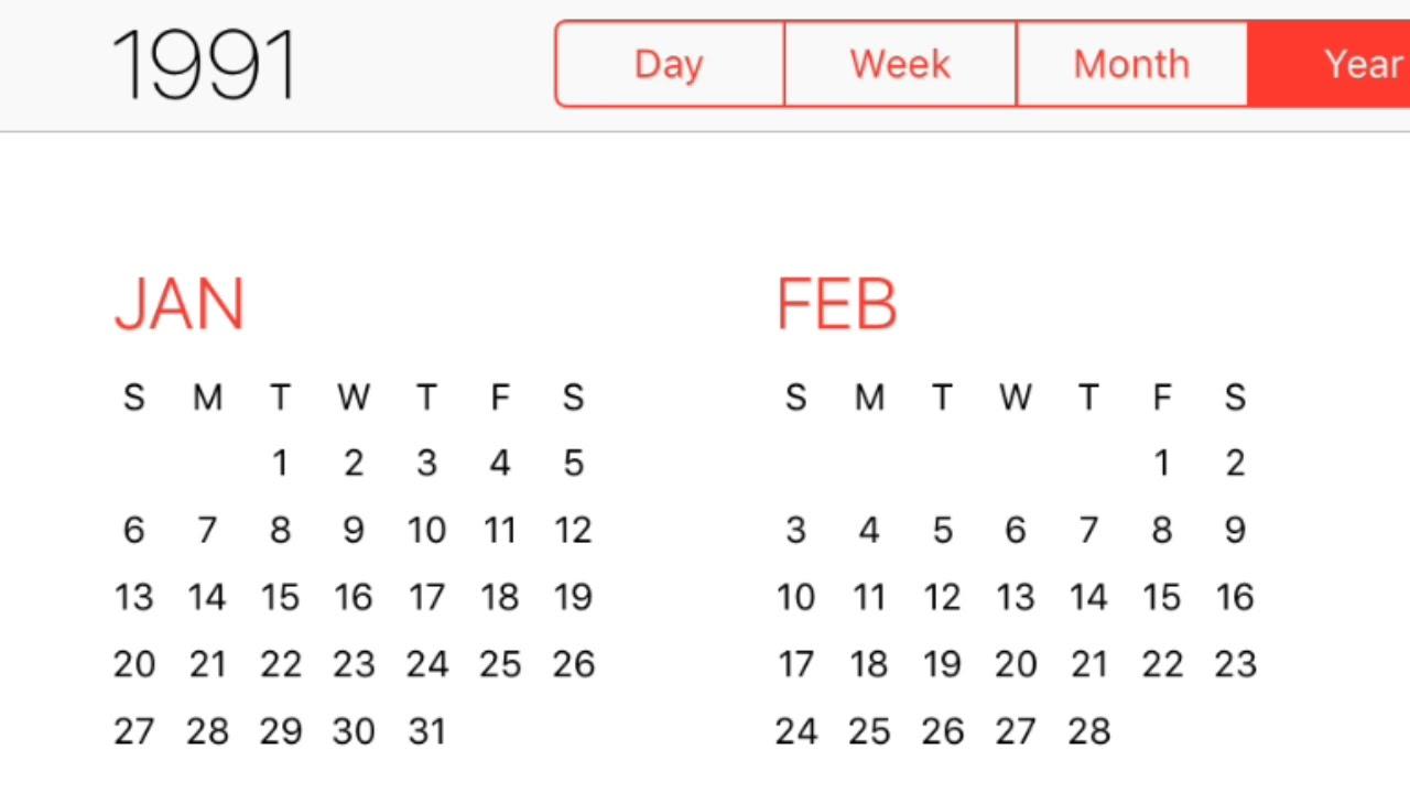 1991 Calendar  Youtube with regard to 1991 Calendar Year