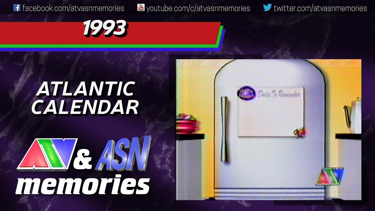 1993  Atlantic Calendar regarding 1993 Calendar Kannada