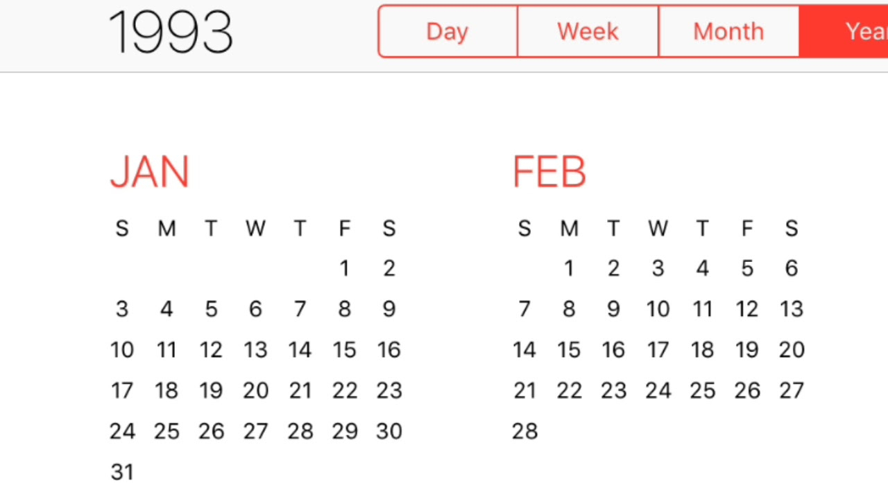 1993 Calendar  Youtube within 1993 Kannada Calendar