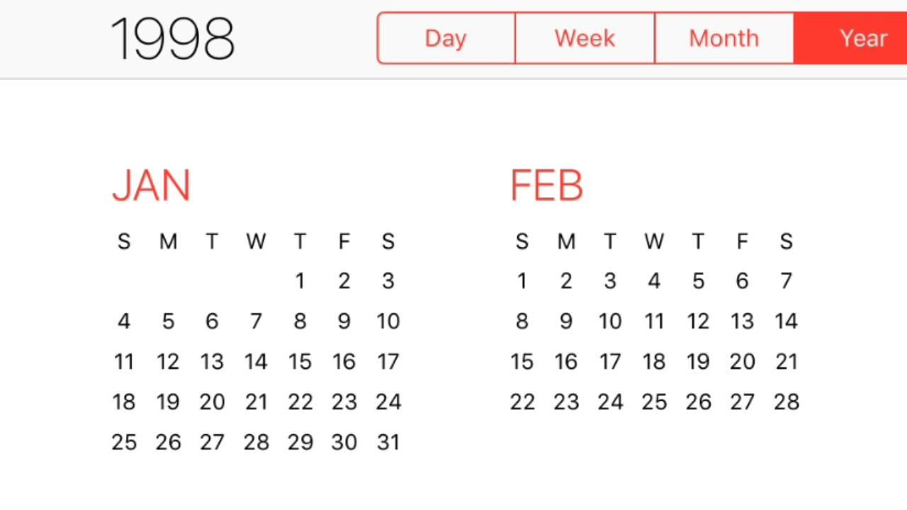 1998 Calendar  Youtube for 1998 Calendar With Festivals