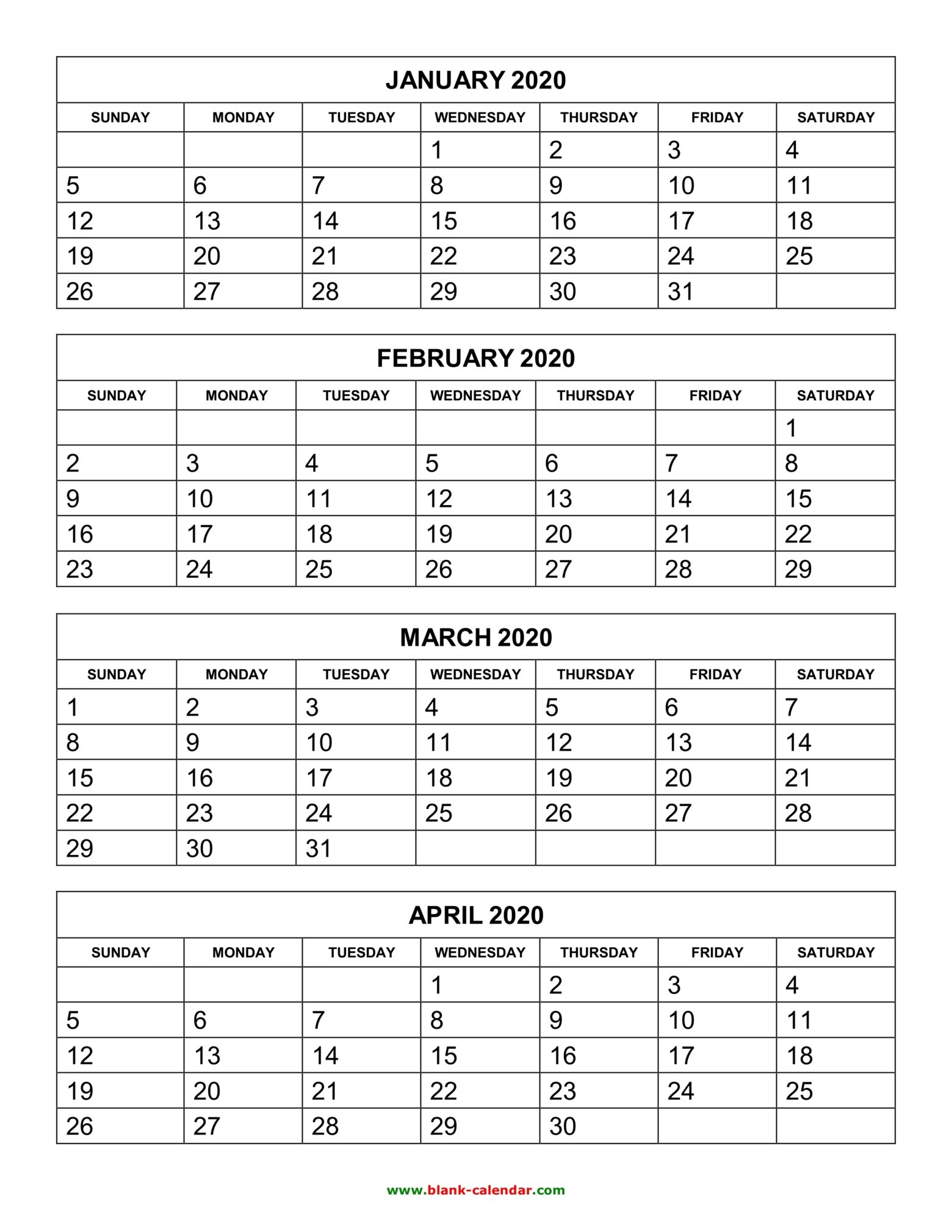 1A84C41 Printable Calendar 6 Months Per Page C Template regarding 3 Month Calendar Printable 2020