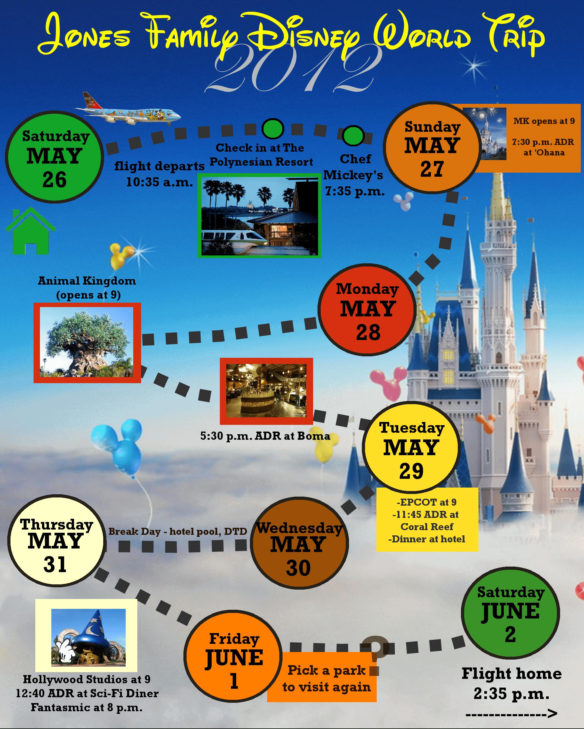 2 Custom Disney World Itinerary Templates | Wdw Prep School with regard to Disney World Itinerary Template