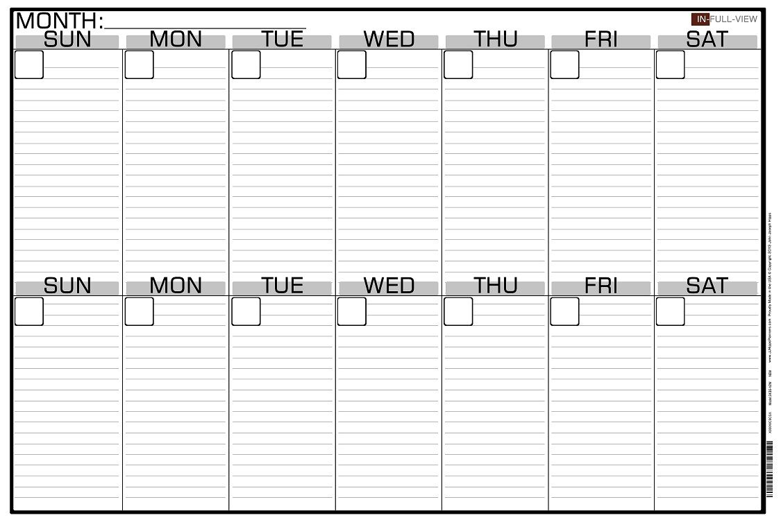 2 Week Blank Calendar Calendar Printable Free Free 2 Week intended for Two Week Calander