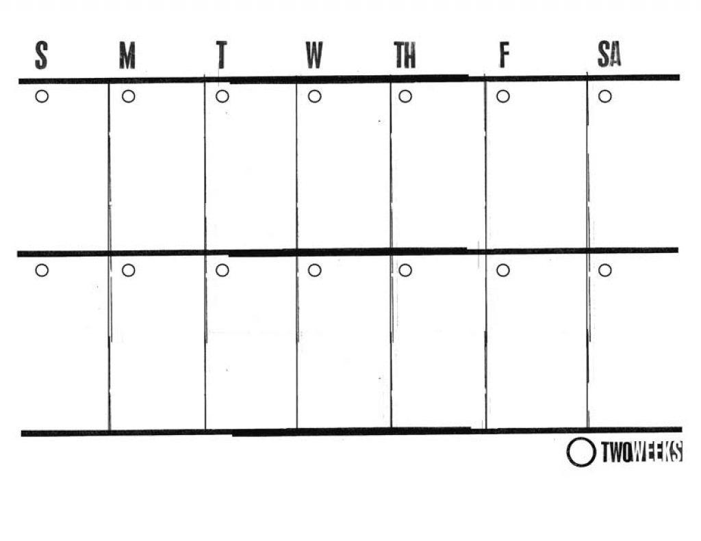 2 Week Blank Calendar Printable – Template Calendar Design inside 2 Week Blank Calendar Printable