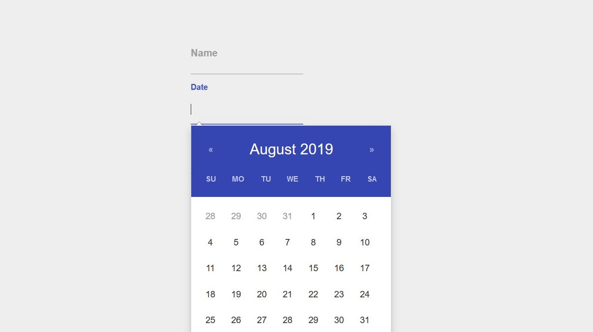 20 Free Stunning Bootstrap Datepicker Examples  Colorlib within Bootstrap 4 Calendar Icon