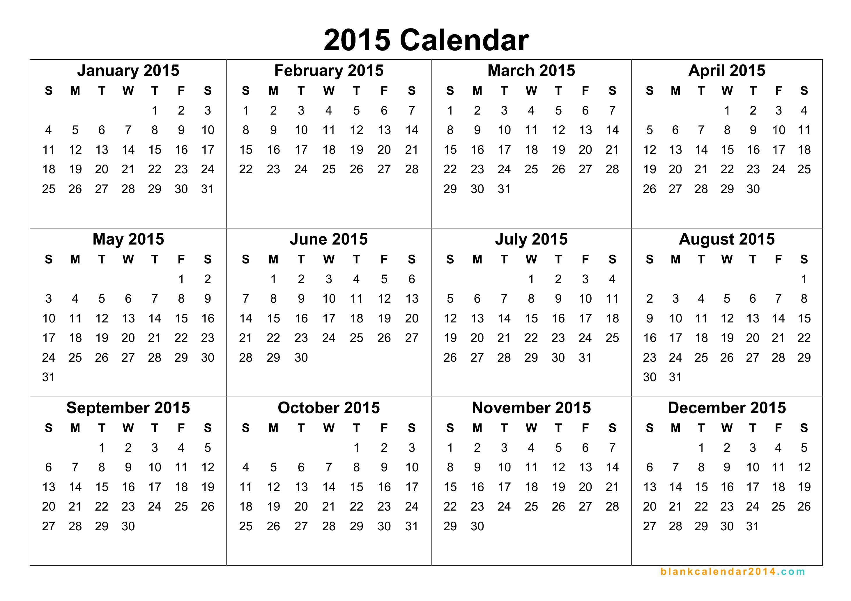 2015 Calendars Free  Bolan.horizonconsulting.co for December 2015 Calendar Printable