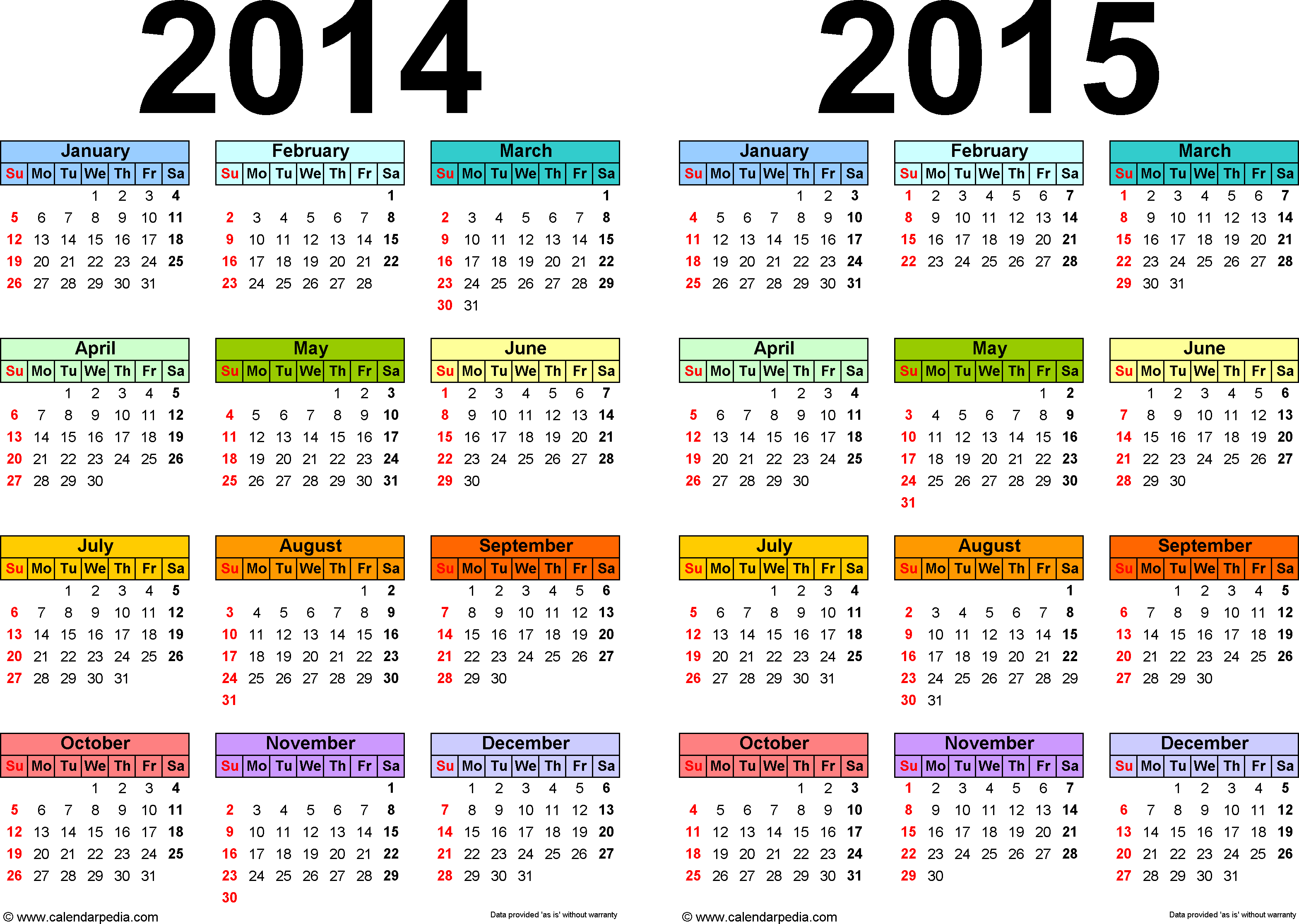 2015 Calendars Free  Bolan.horizonconsulting.co inside Calendar 2014 Printable