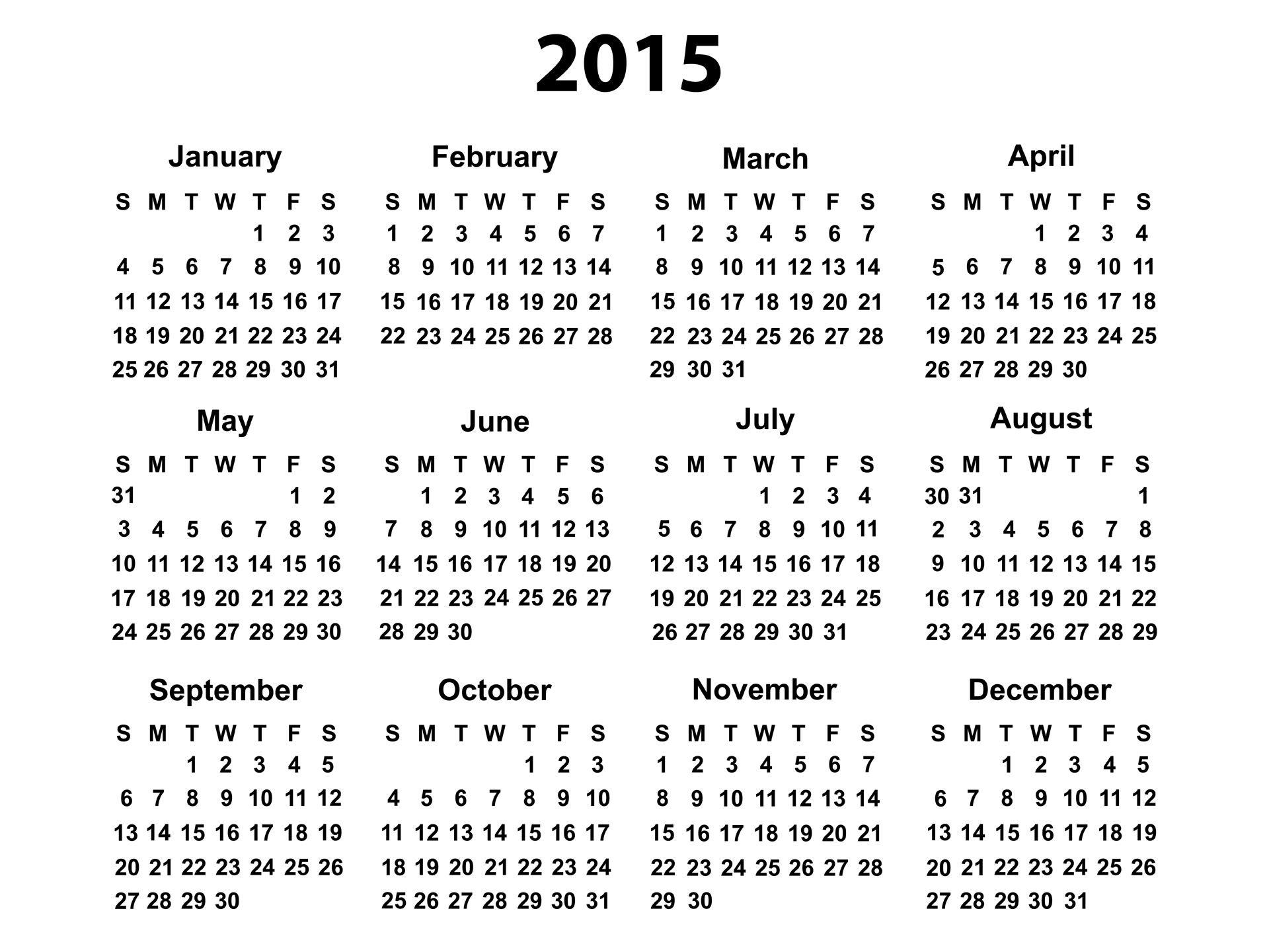 2015 Calendars Free  Bolan.horizonconsulting.co with December 2015 Calendar Printable