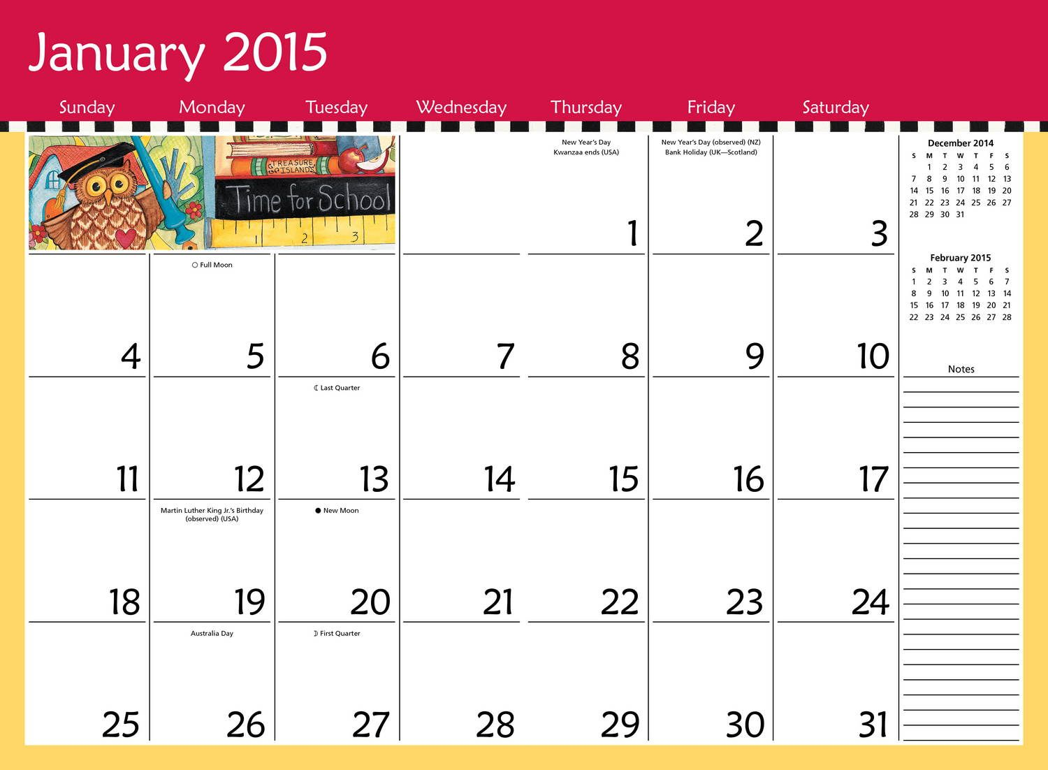 2015 Monthly Calendar With Holidays Printable | Projects To with regard to Printable Monthly Calendar 2015