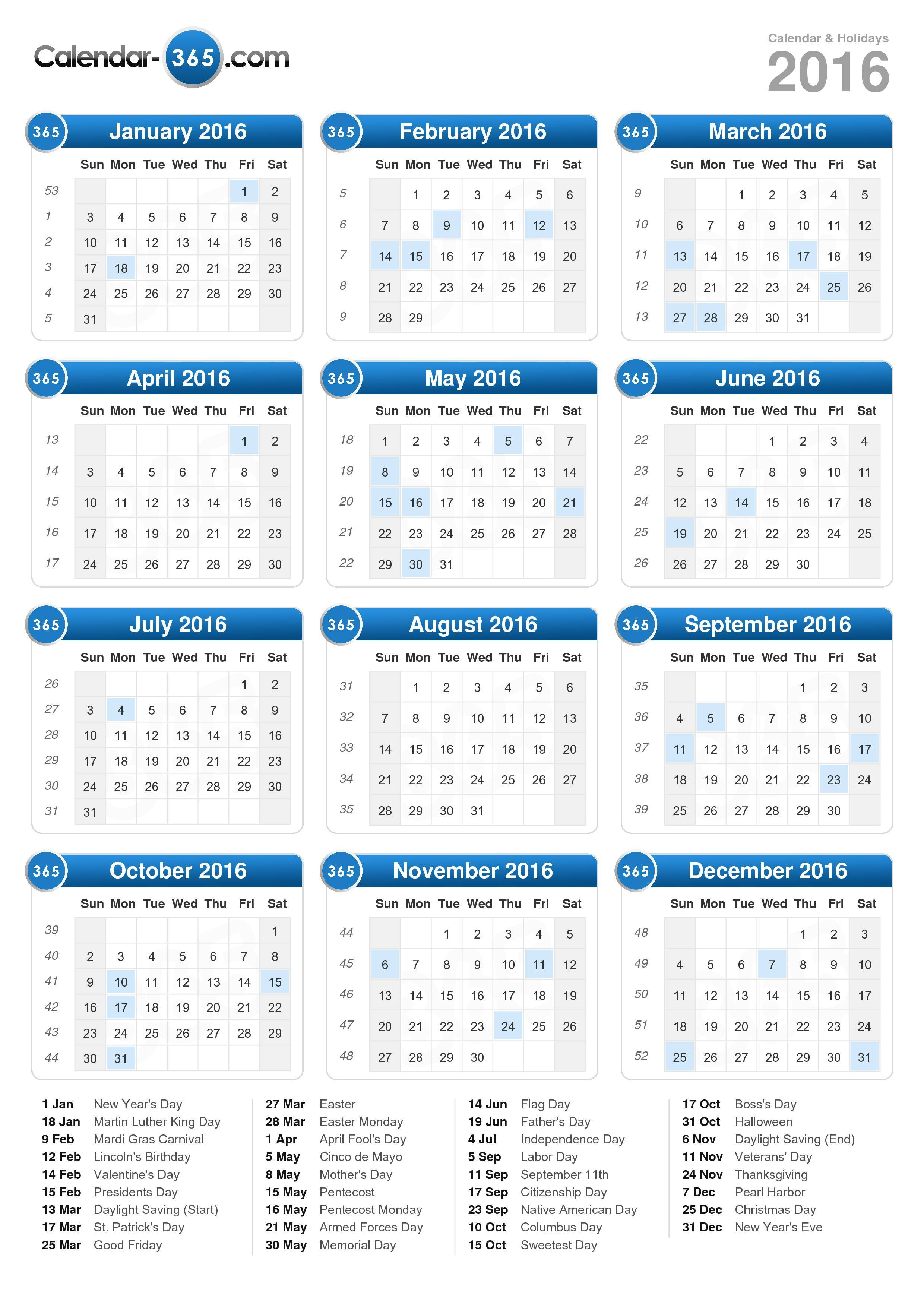 2016 Calendar throughout July 2016 Calendar With Holidays