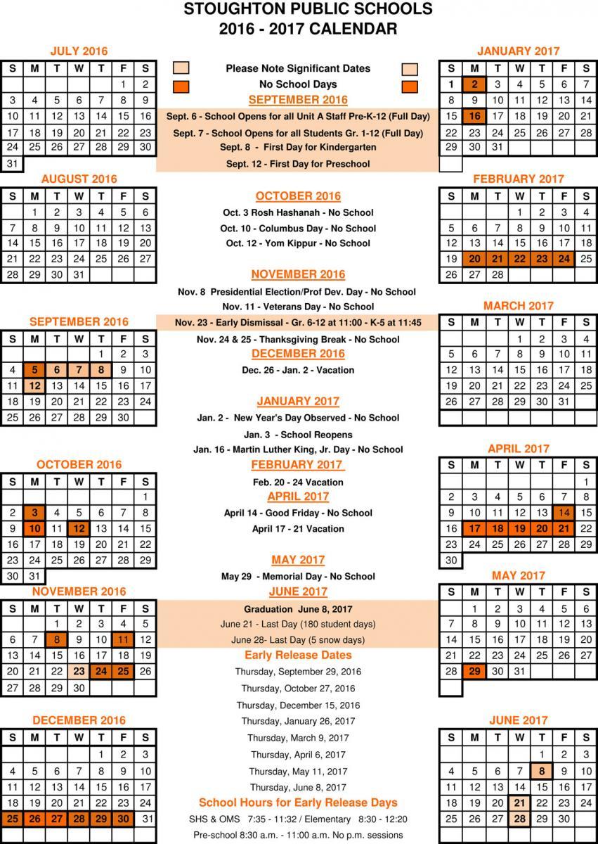 20162017 School Calendar | Dawe Elementary School intended for Dawe School Calendar