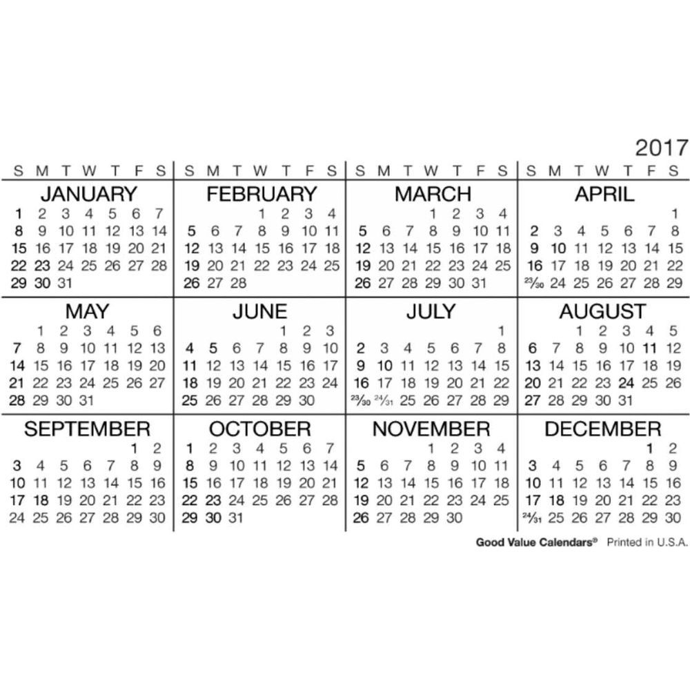 2017 Wallet Calendar | Templates Free Printable throughout Pocket Size Calendar Printable