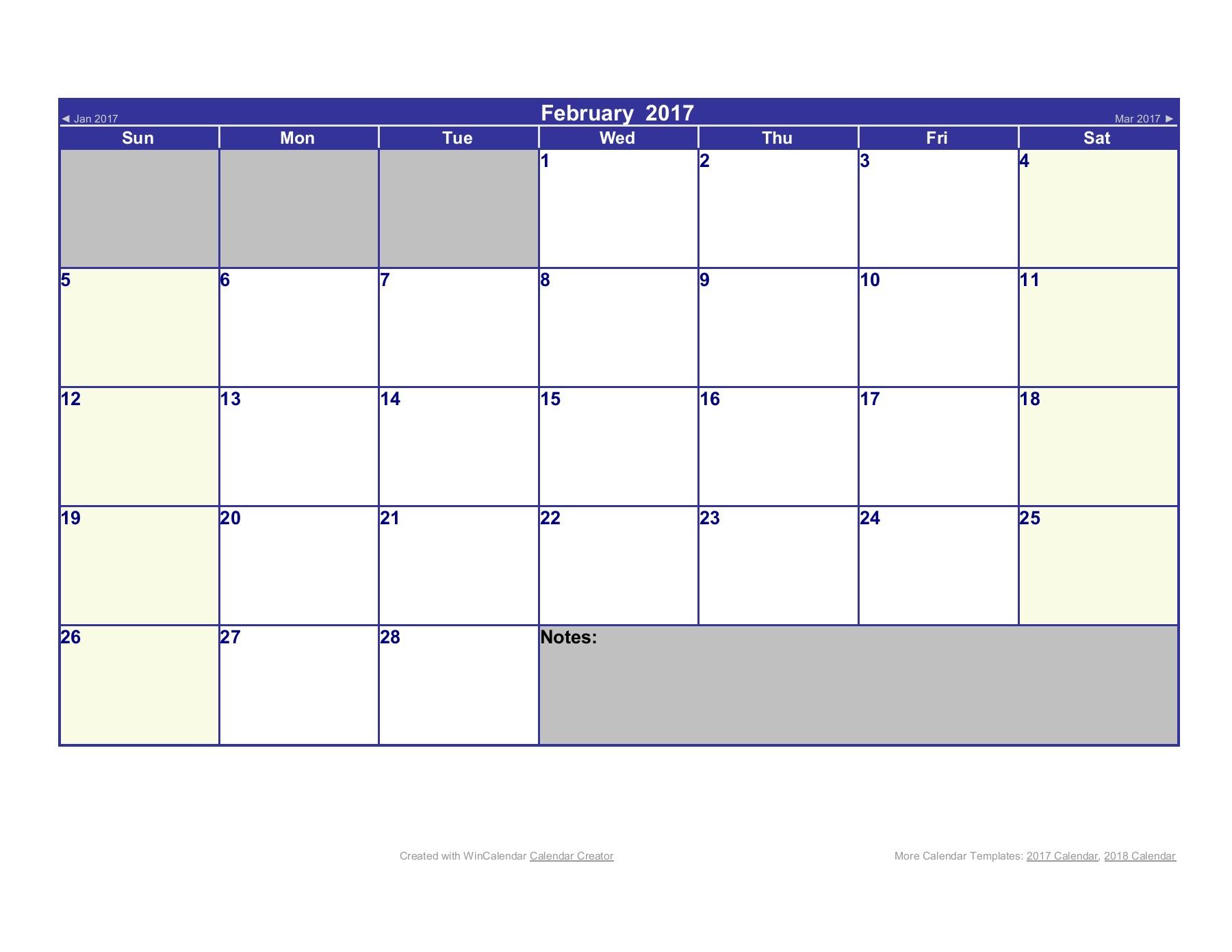 2017 Word Calendar regarding Word Calendar Creator