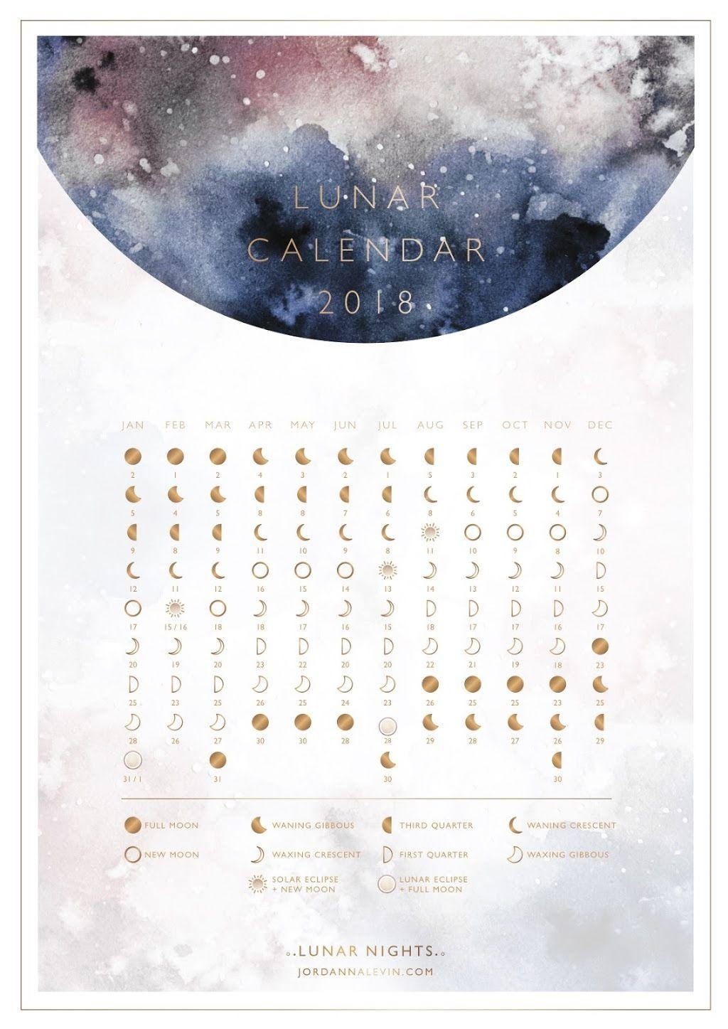 2018 Lunar Calendar  Dagboek Ideeën, Maanstanden En Bullet pertaining to Om Journal Lunar Calendar