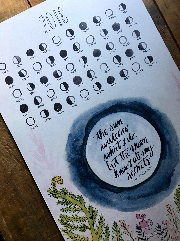 2018 Moon Calendar for Om Journal Lunar Calendar